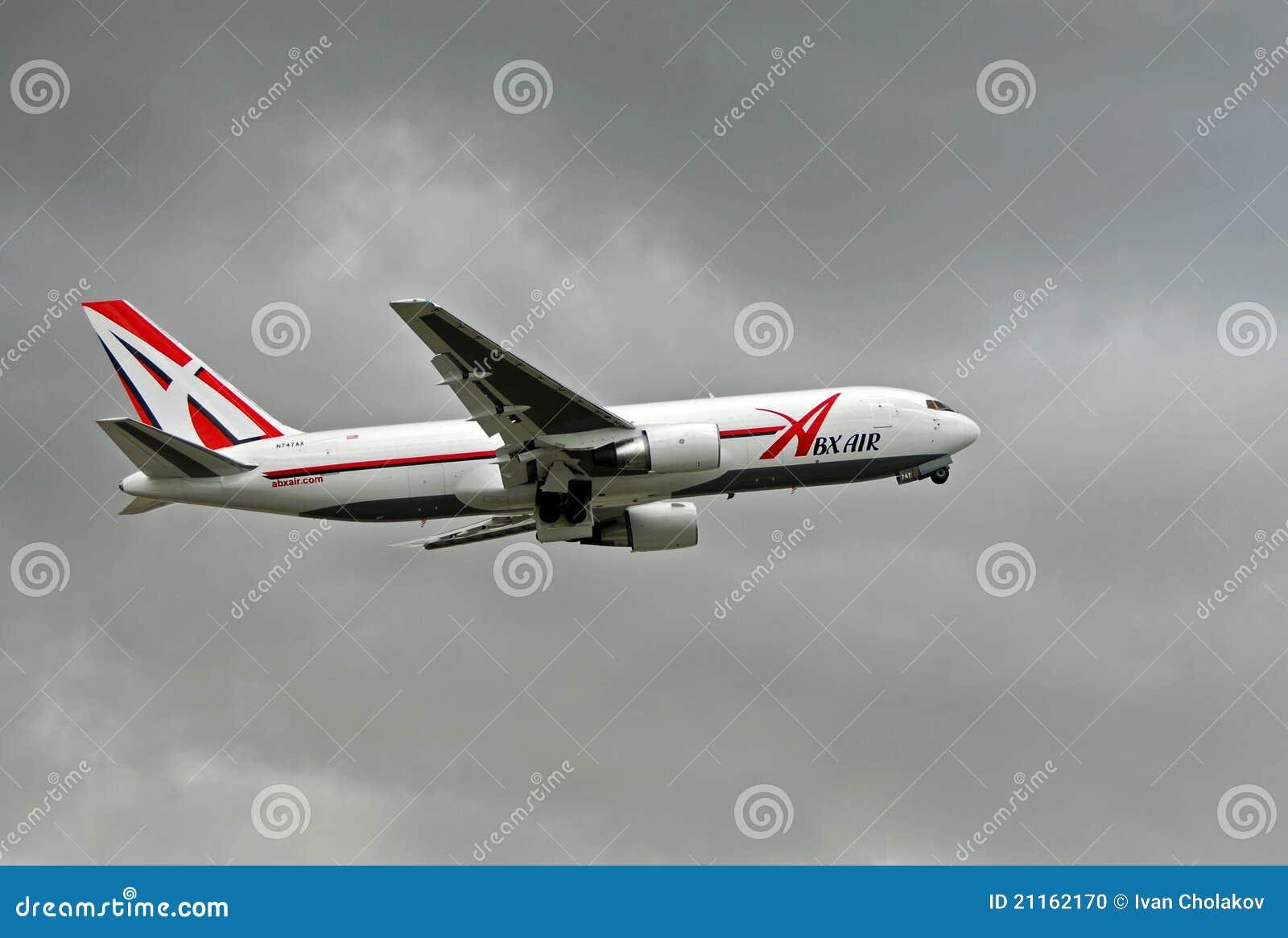 ABX Luftfrachtflugzeug