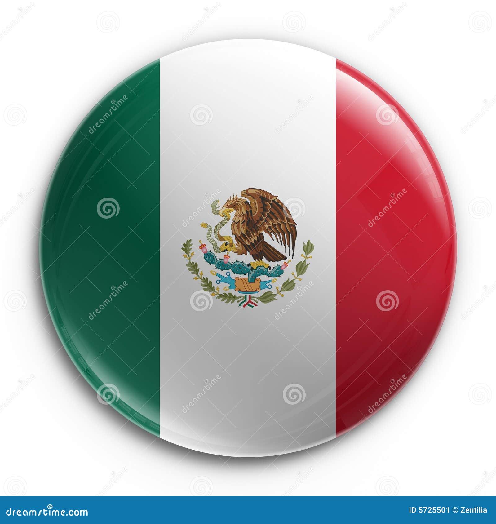 Abzeichen - mexikanische Markierungsfahne