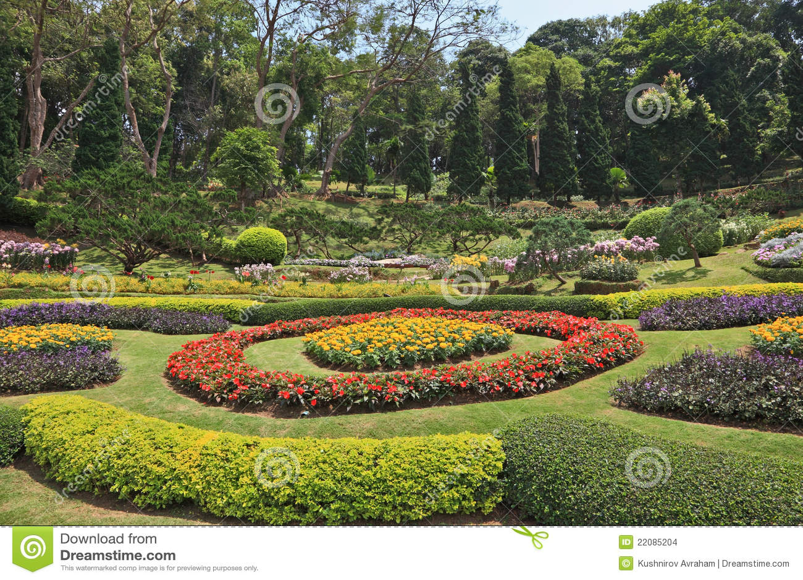 Ac cias e camas de flor artly decoradas imagens de stock imagem 22085204 - Camas decoradas ...