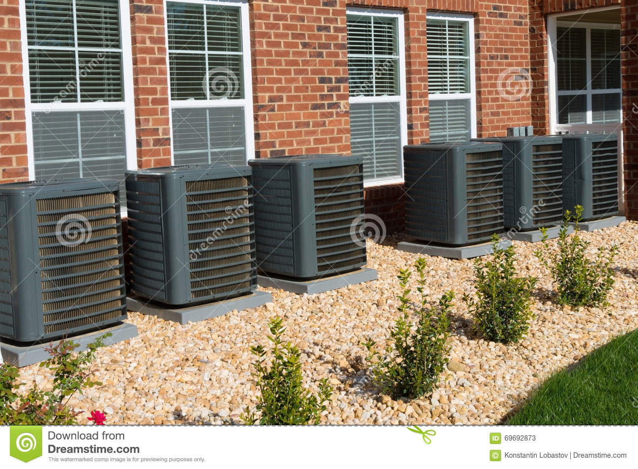 AC compressor units stock image. Image of units, effective - 69692873