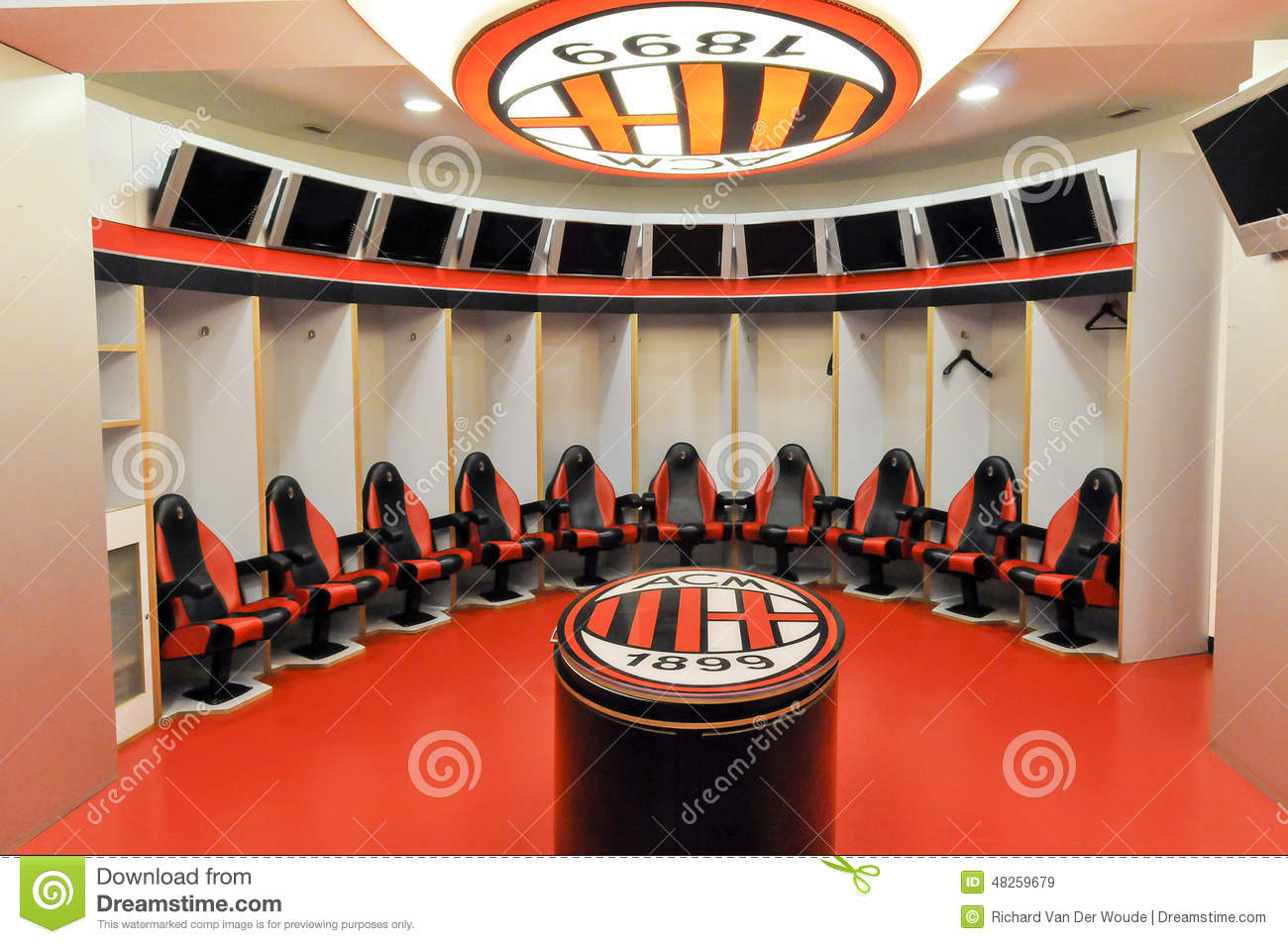 Ac milan dress room editorial stock image image 48259679 for The club milan
