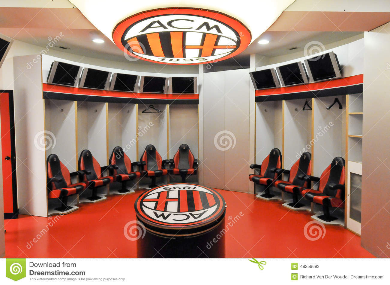 Ac milan dress room editorial stock photo image 48259693 for The club milan