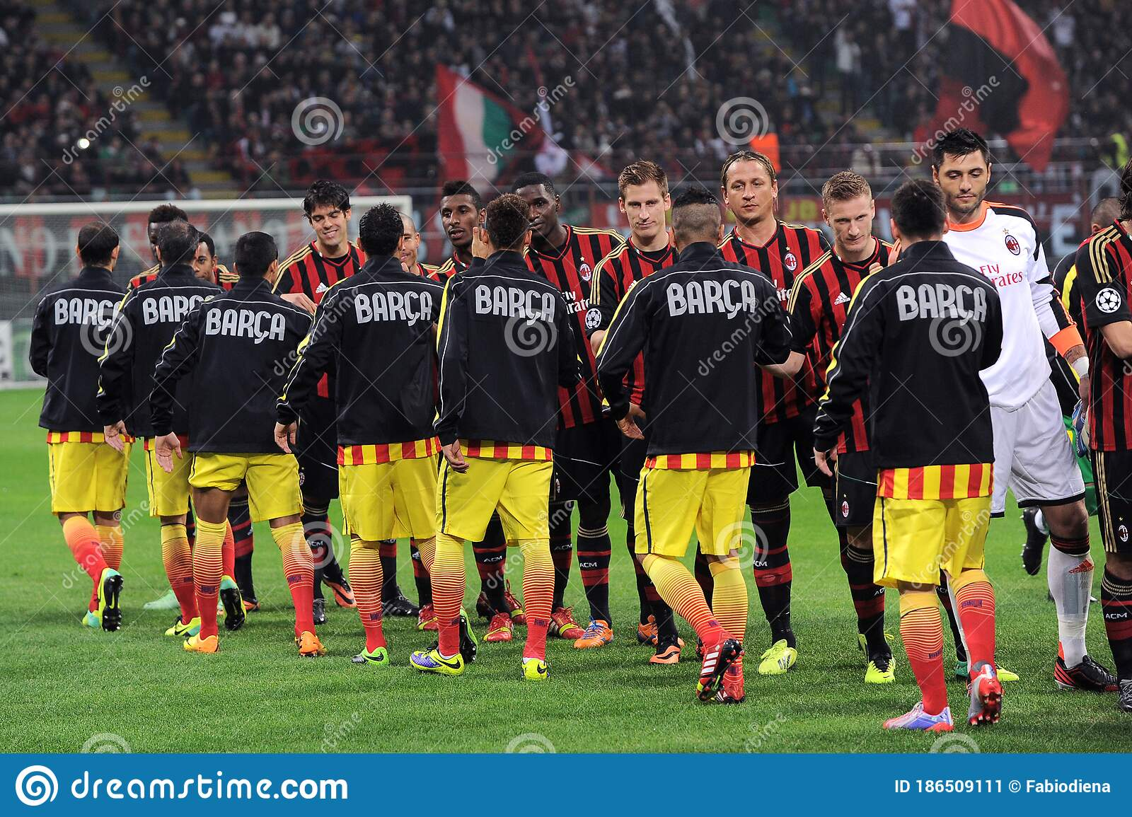 Ac Milan And Fc Barcelona Editorial Photo Image Of Champions 186509111