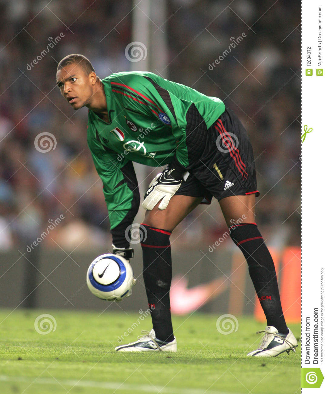ac milan goalkeeper dida editorial photography  image of dida