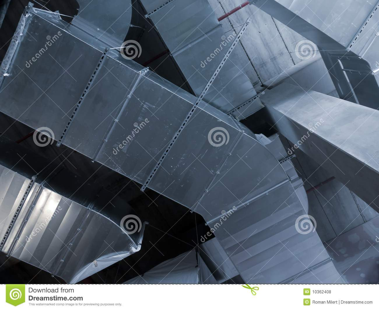AC pipes stock photo. Image of piping, conditioning, steel - 10362408