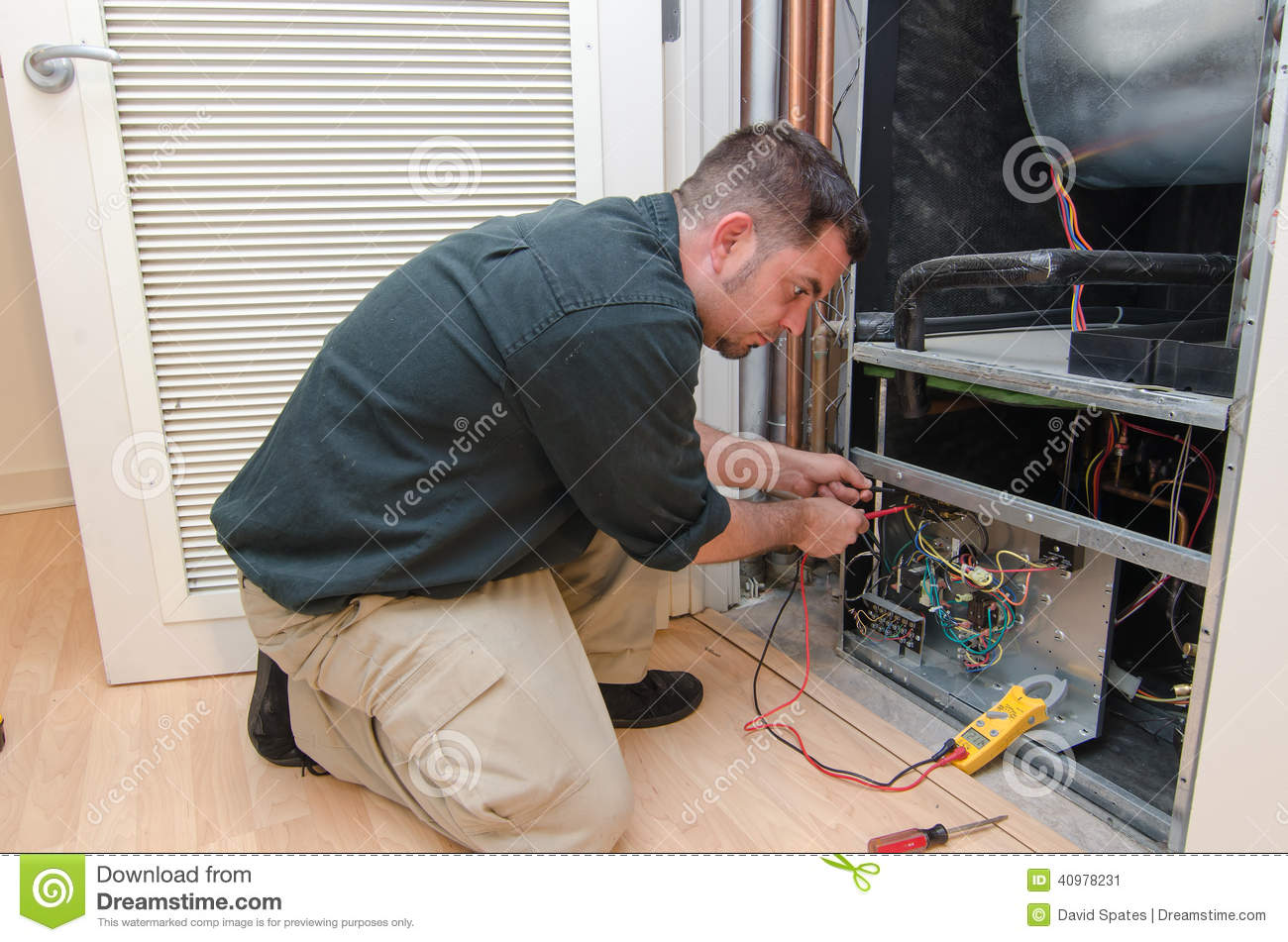 Ac Repair Man Stock Image Image Of Electrical Trade