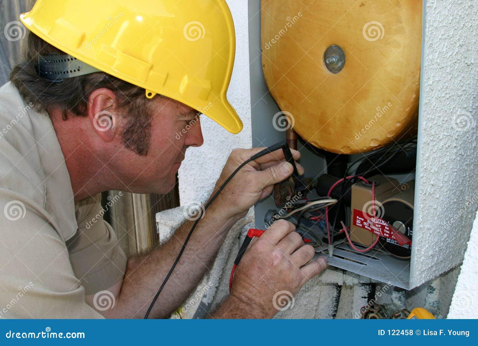 AC Repairman Closeup