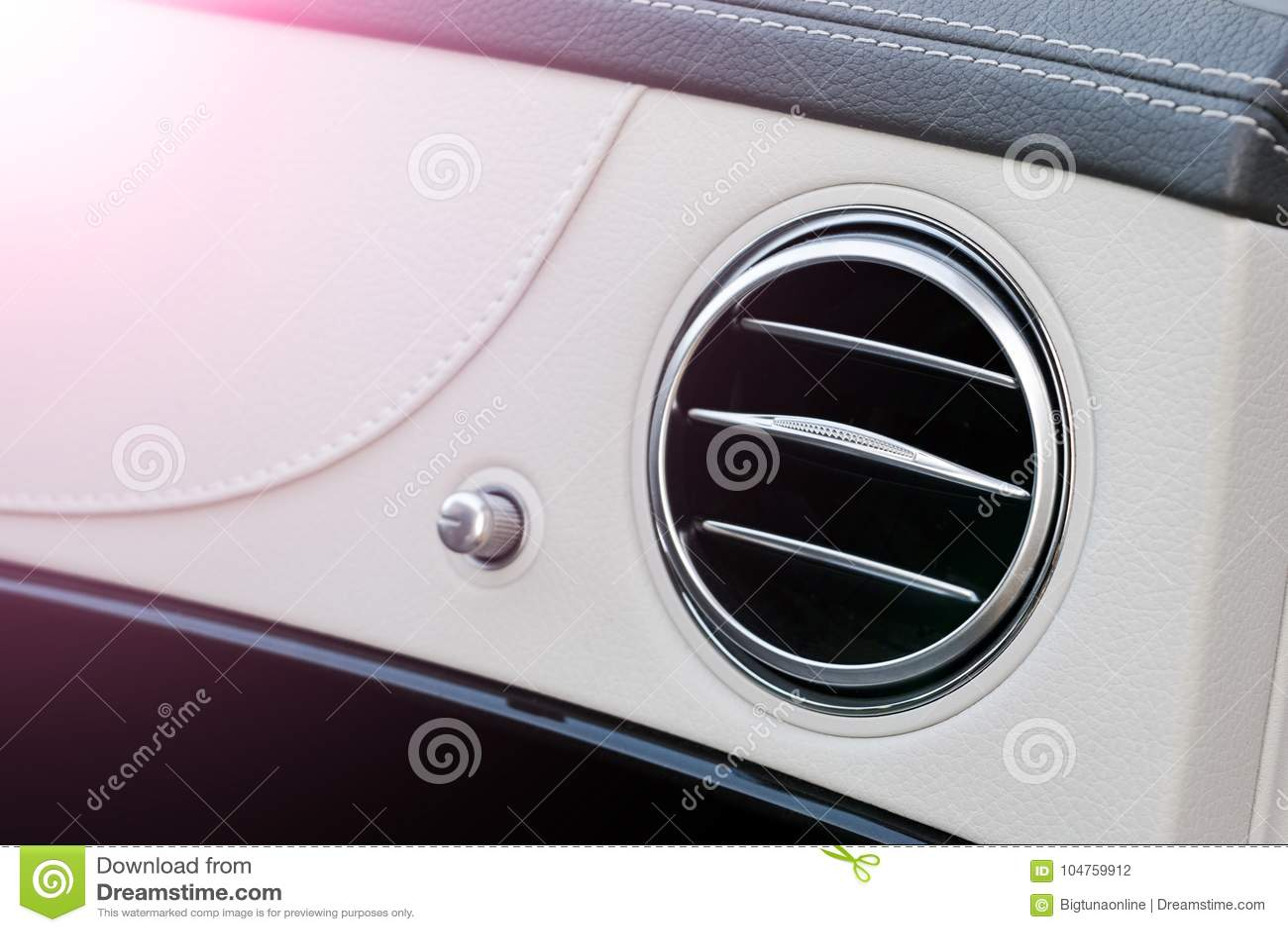 Ac Ventilation Deck Luxury Car Interior Modern Car Interior Details