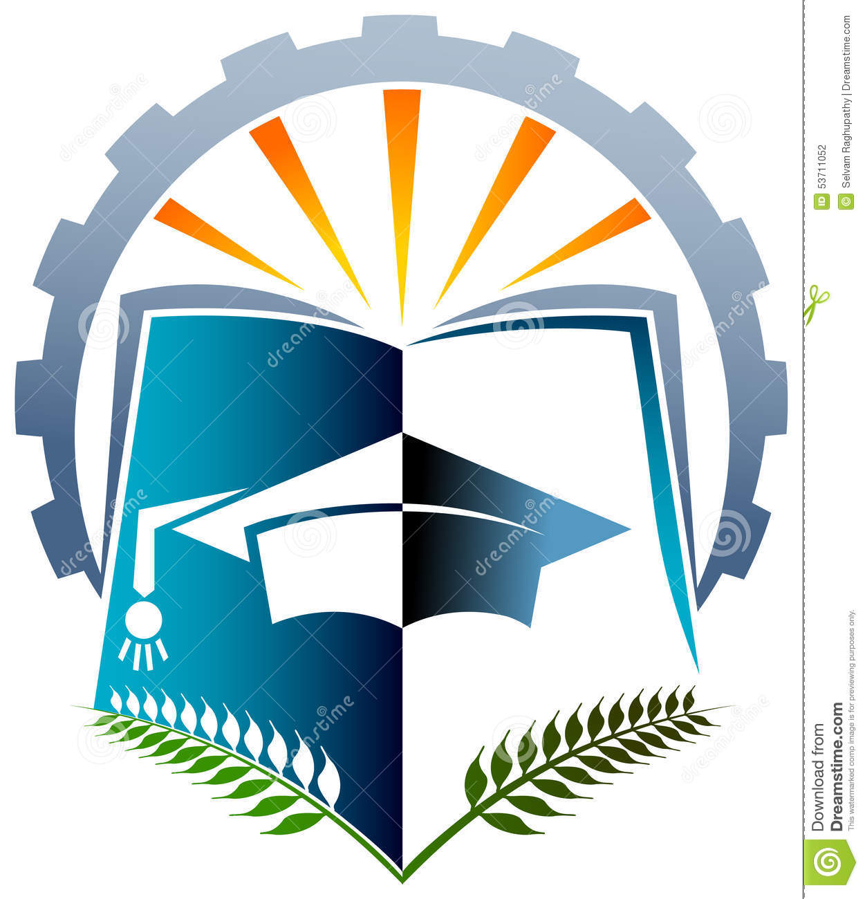 Academic Logo Stock Vector Image 53711052