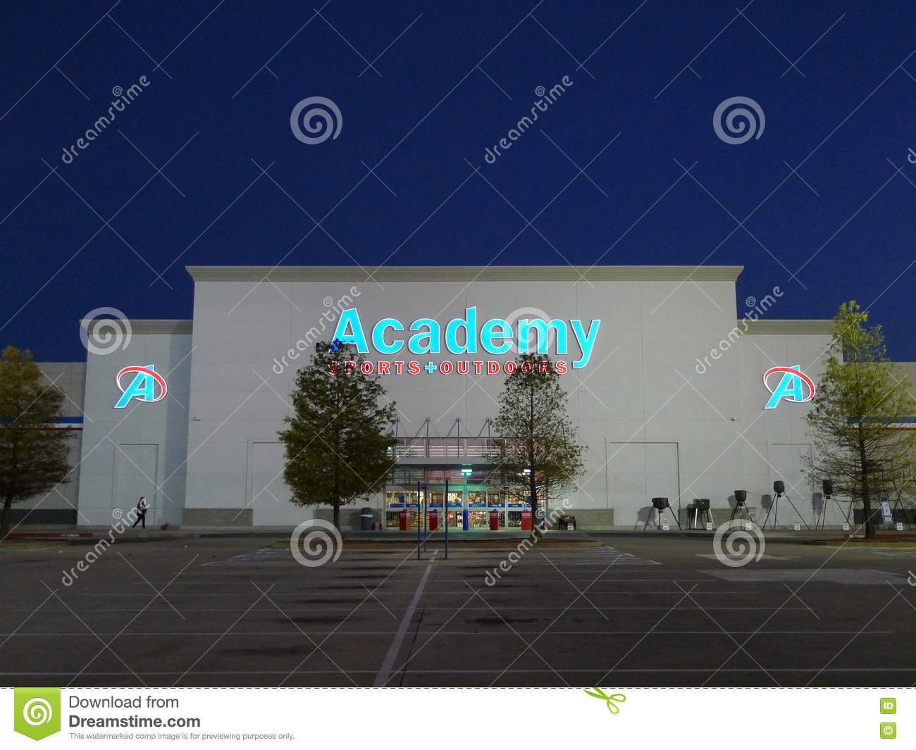Academy Sports And Outdoors Retail Store Editorial Stock