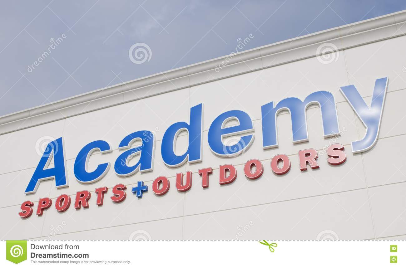 academy sports and outdoors sign editorial stock photo On academy fishing license
