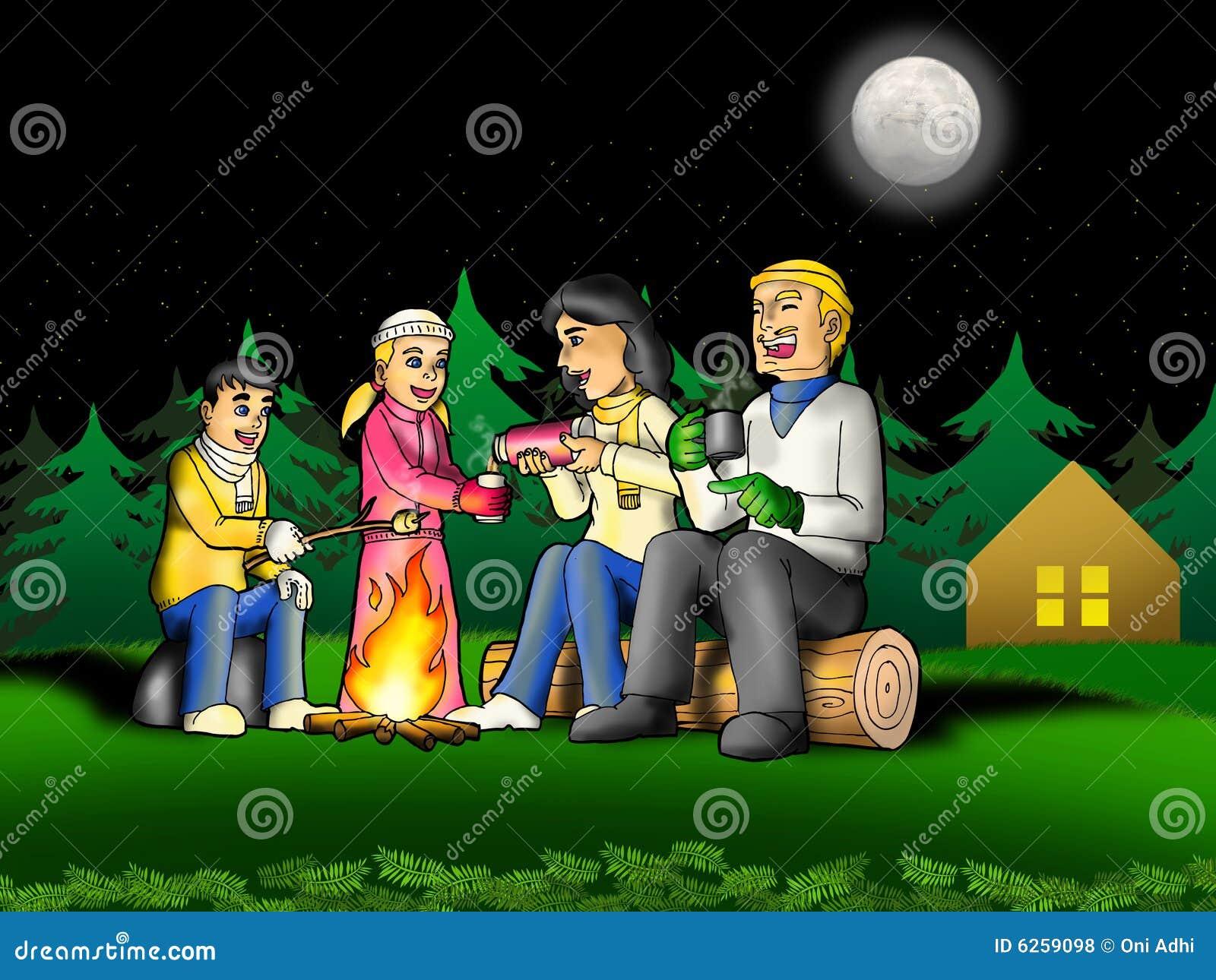 Acampamento da família
