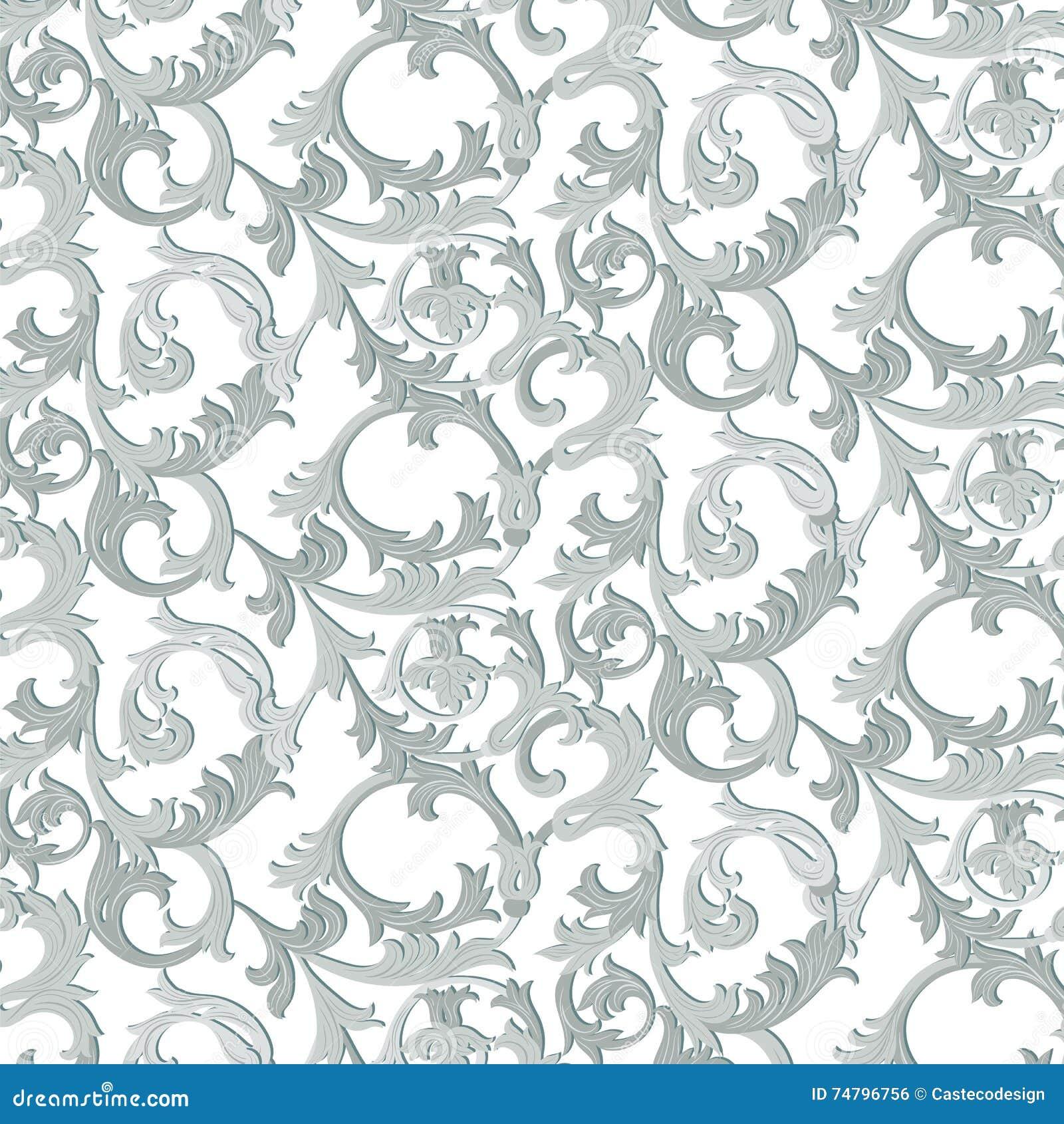 acanthus leaf ornament pattern stock vector illustration of flower acanthus 74796756 dreamstime com