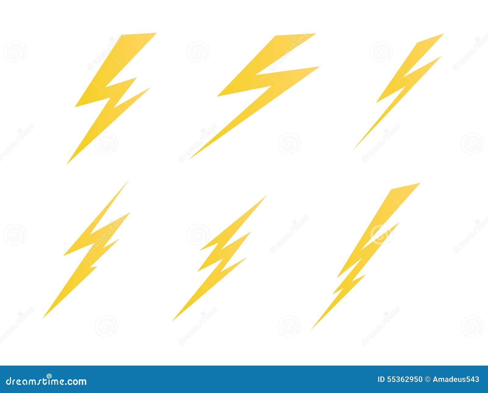 Accendendosi, illustrazione di simbolo di vettore dell icona della carica elettrica