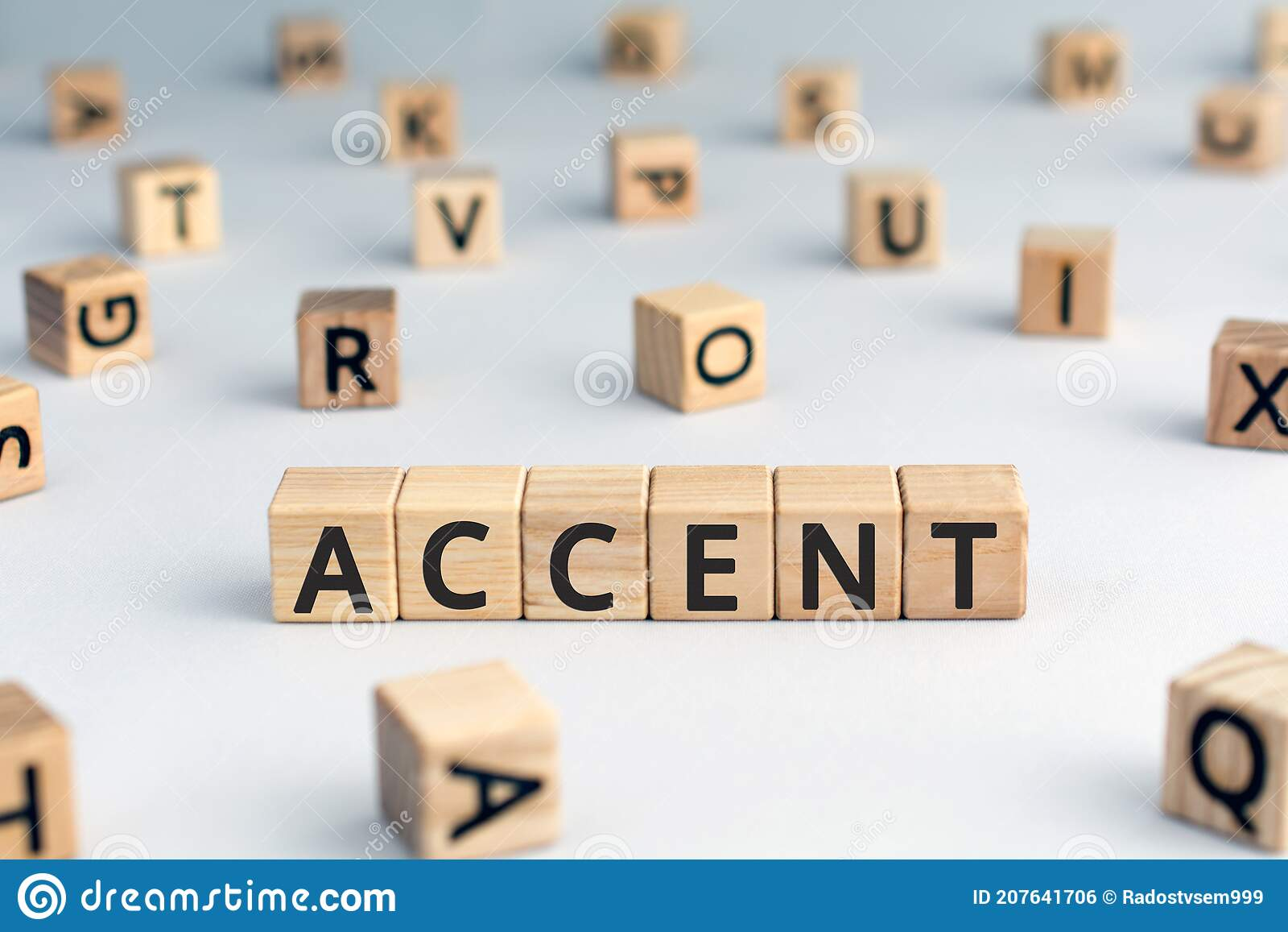 Accent - Word From Wooden Blocks With Letters Stock Photo - Image