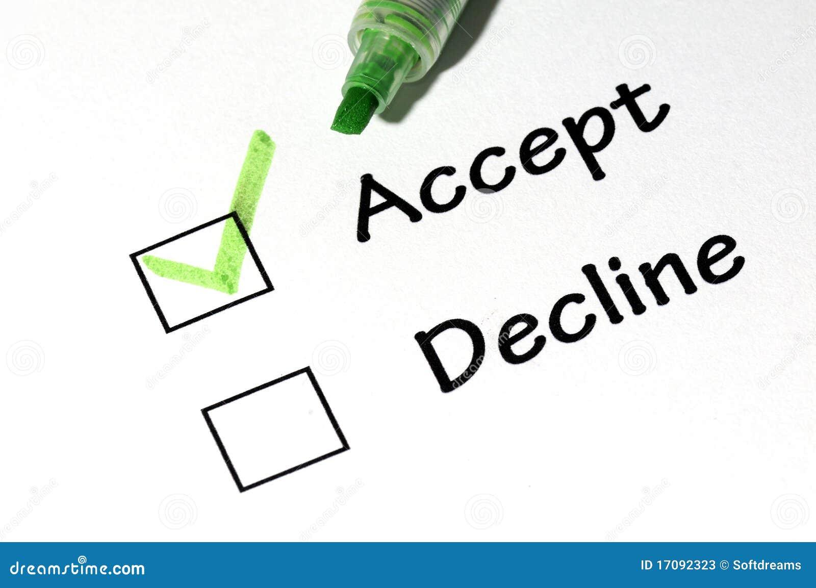Accept Decline Stock Photos Image 17092323