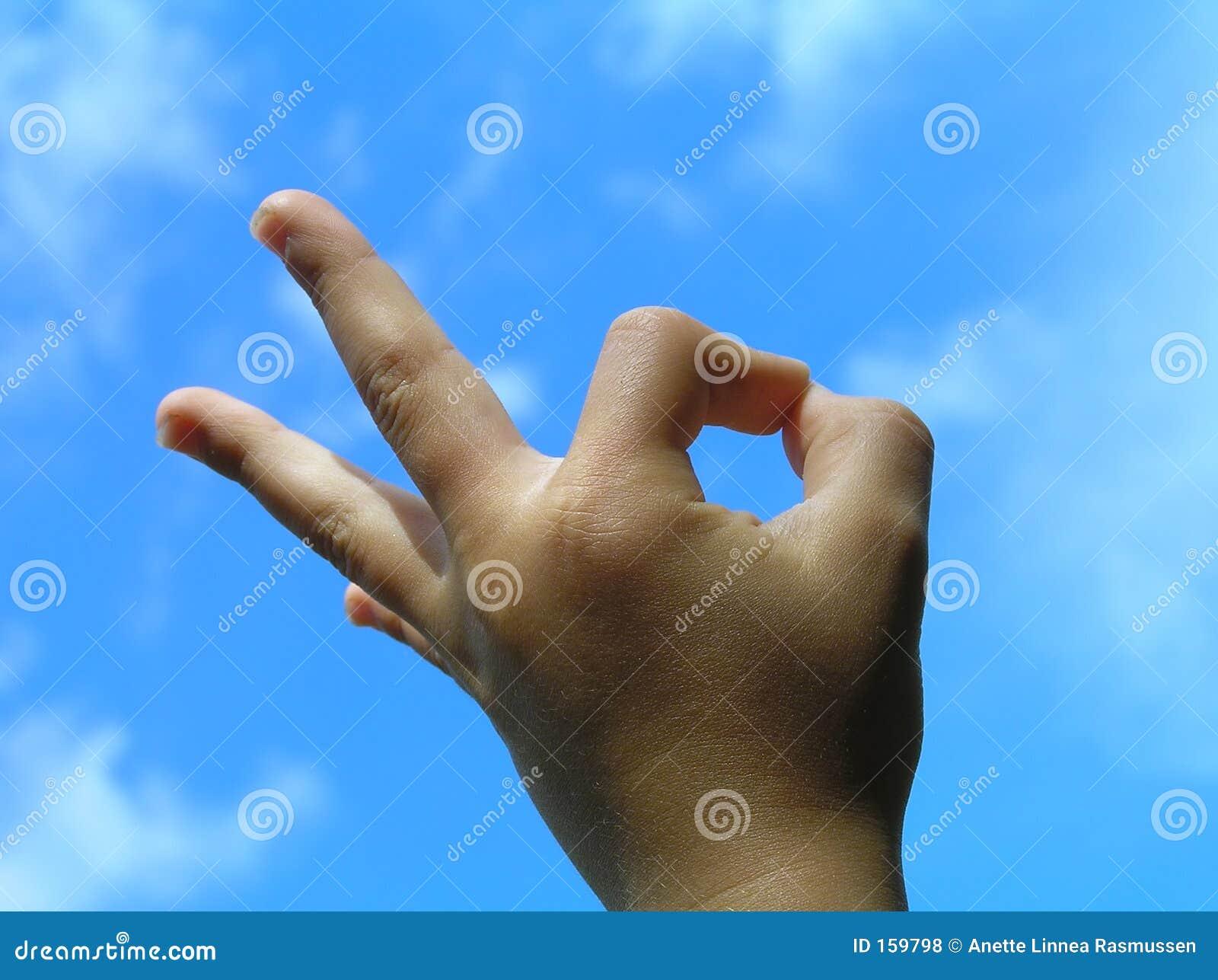 Acceptance gesture � child hand