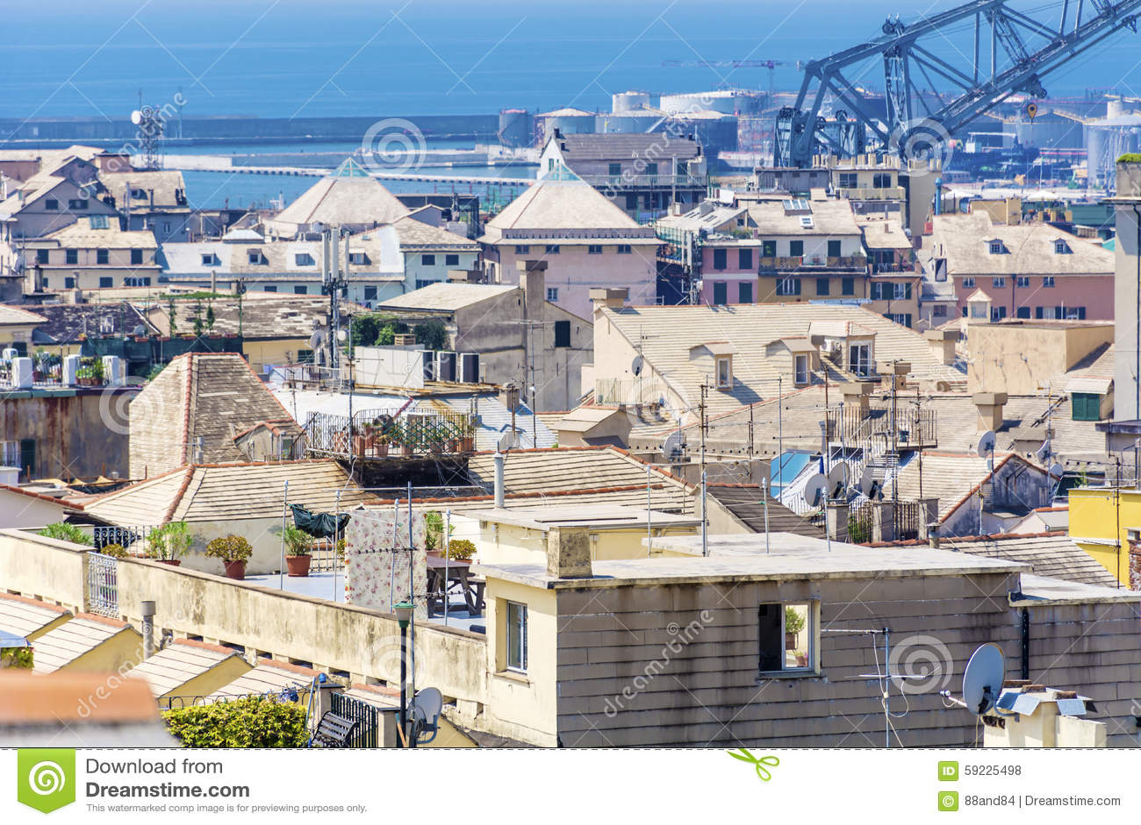 Download Acceso de Génova, panorama foto de archivo. Imagen de centro - 59225498