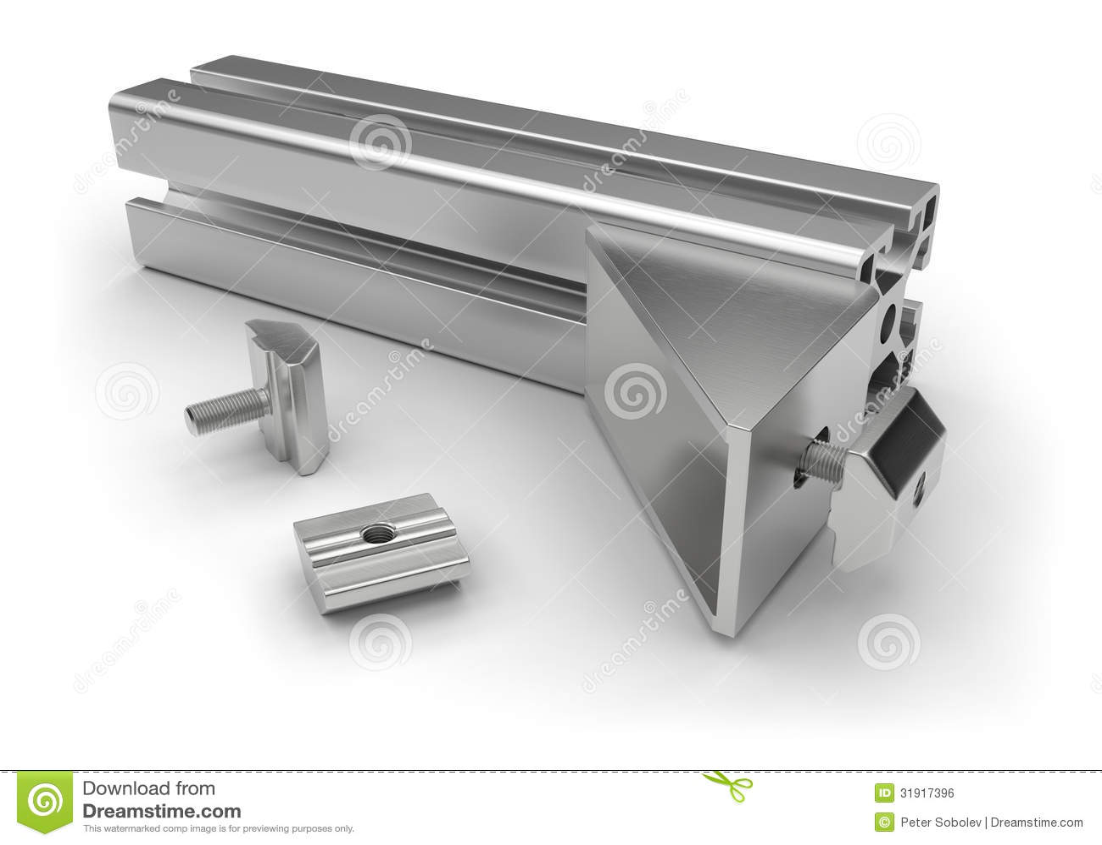 Accesorios de aluminio del perfil stock de ilustraci n - Perfil aluminio blanco ...