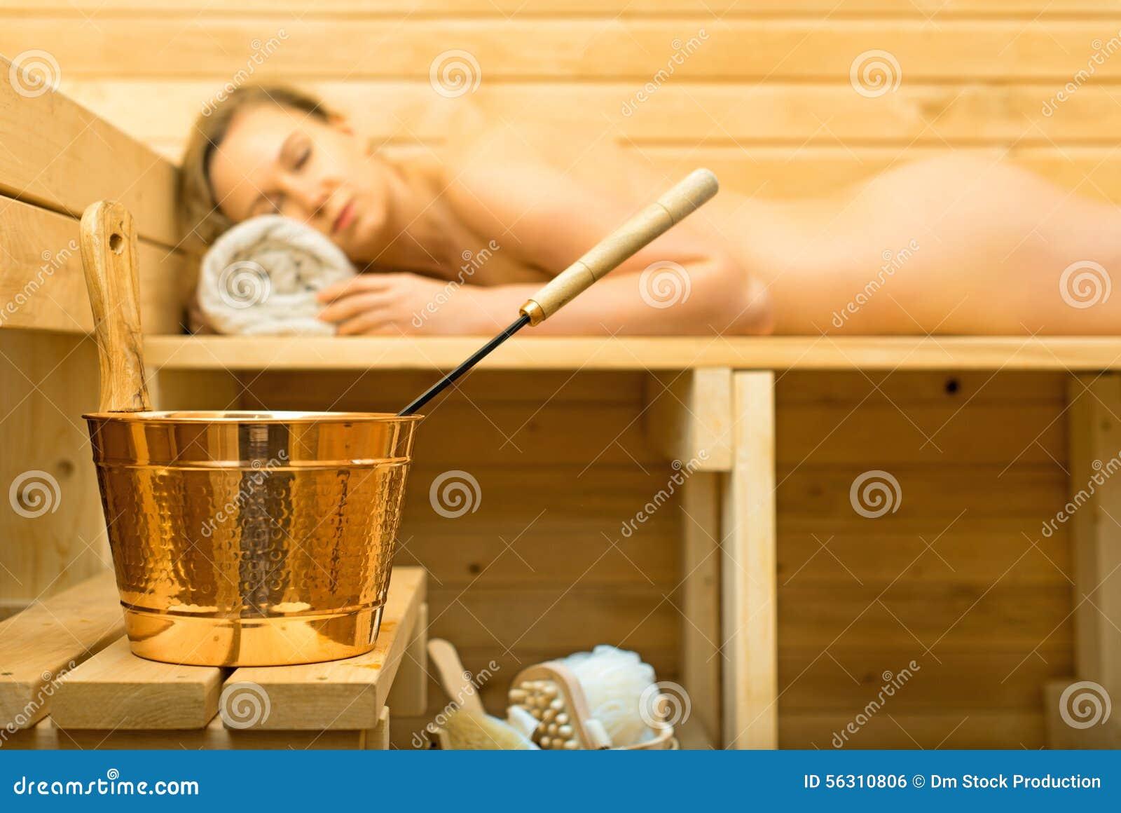 Accesorios del balneario en sauna