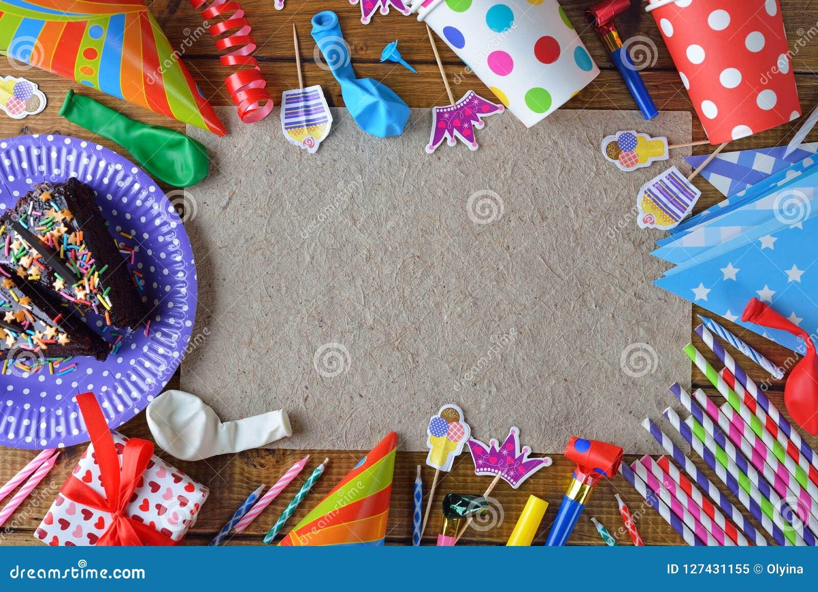 41c7d006819f Accesorios Para Las Fiestas De Cumpleaños Imagen de archivo - Imagen ...