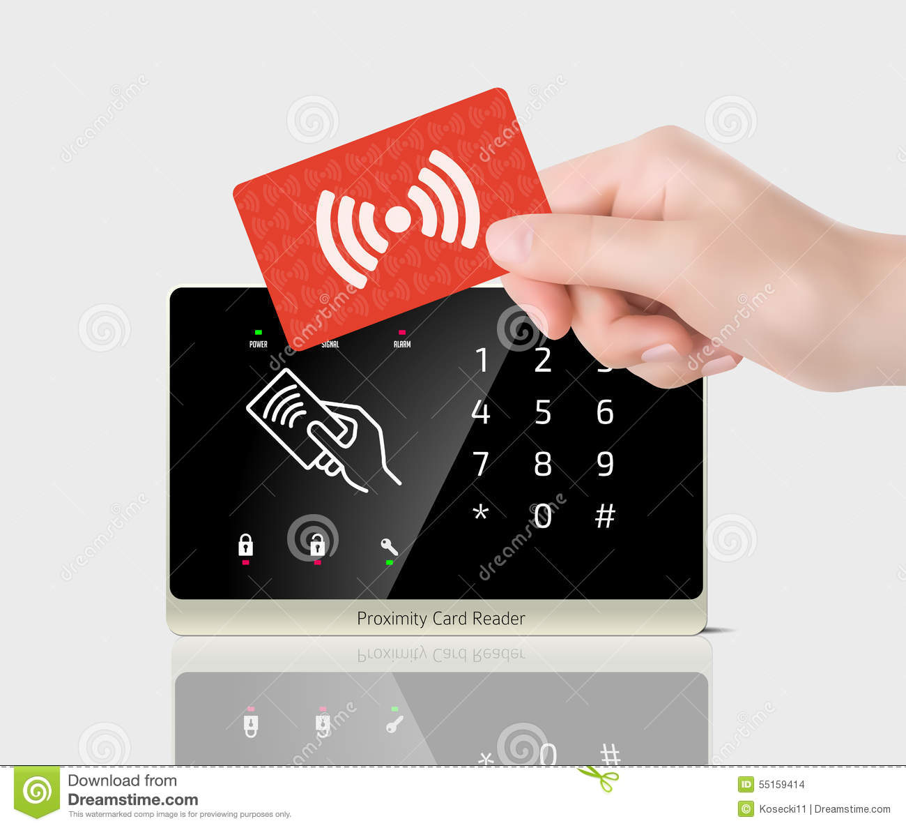 Access Control Proximity Card And Reader Stock