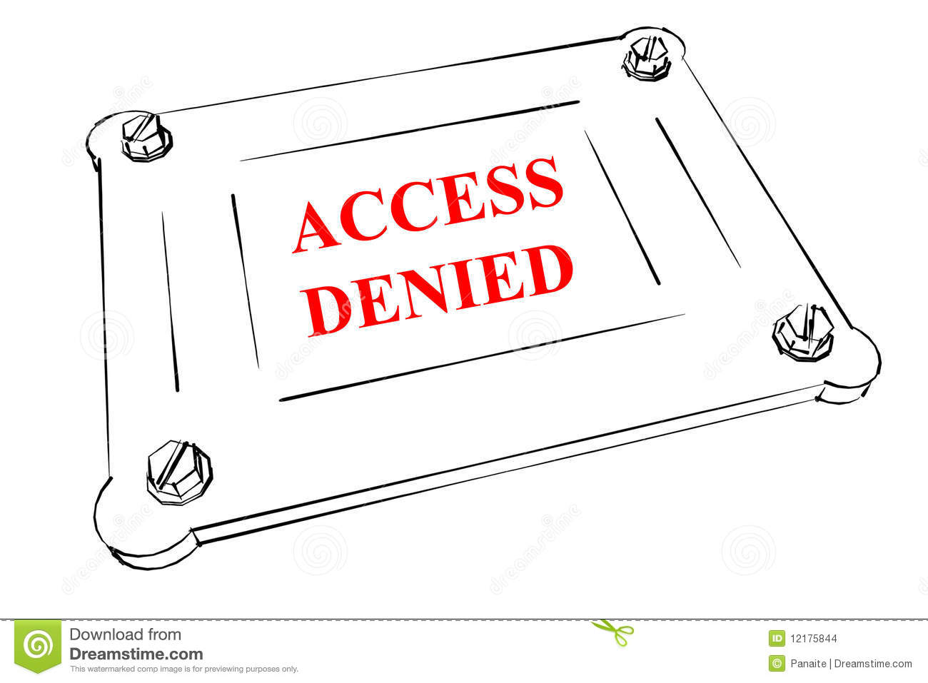 stock images  access denied board  image  12175844