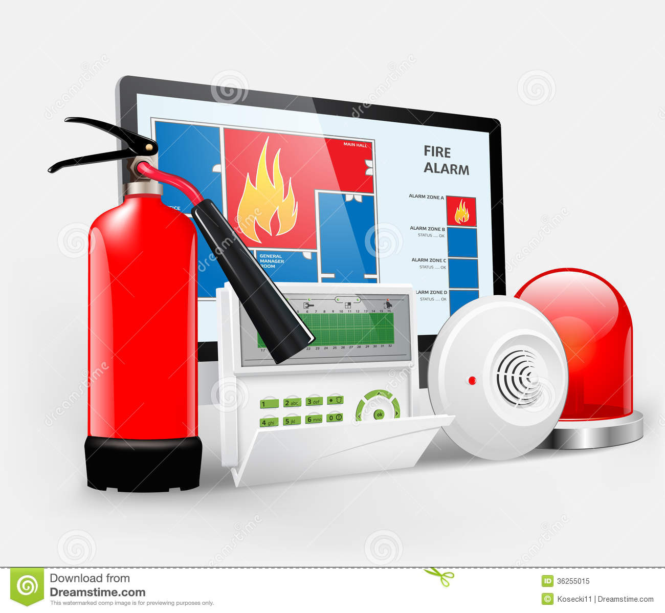 Access Fire Alarm Royalty Free Stock Photo Image 36255015