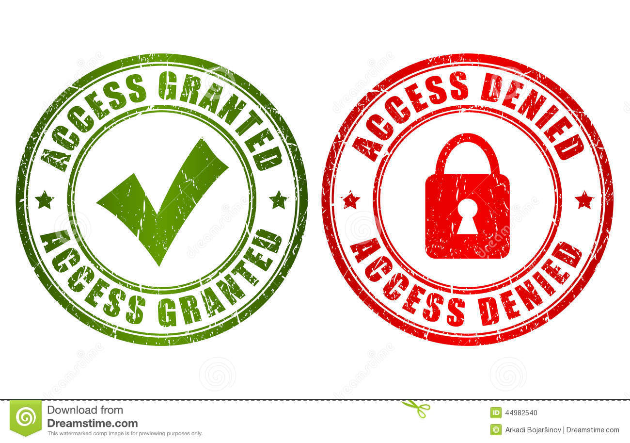 Access Granted Denied Stamp Stock Vector - Image: 44982540