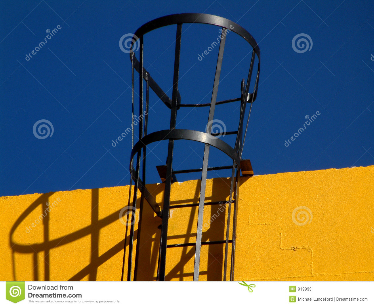 Access Ladder On Building Stock Image Image Of Ladder
