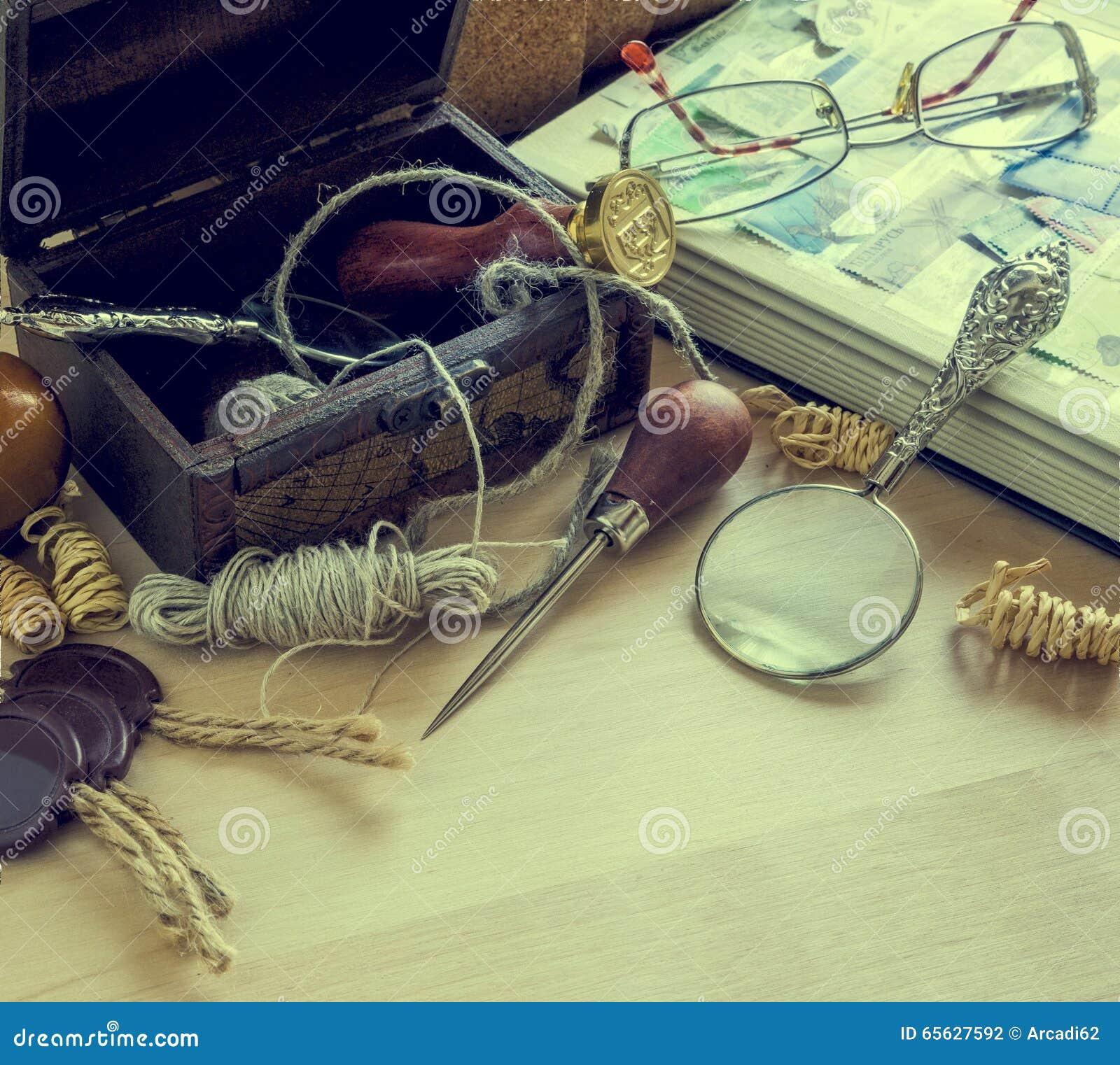 Accessoires de courrier, rétros, vintage