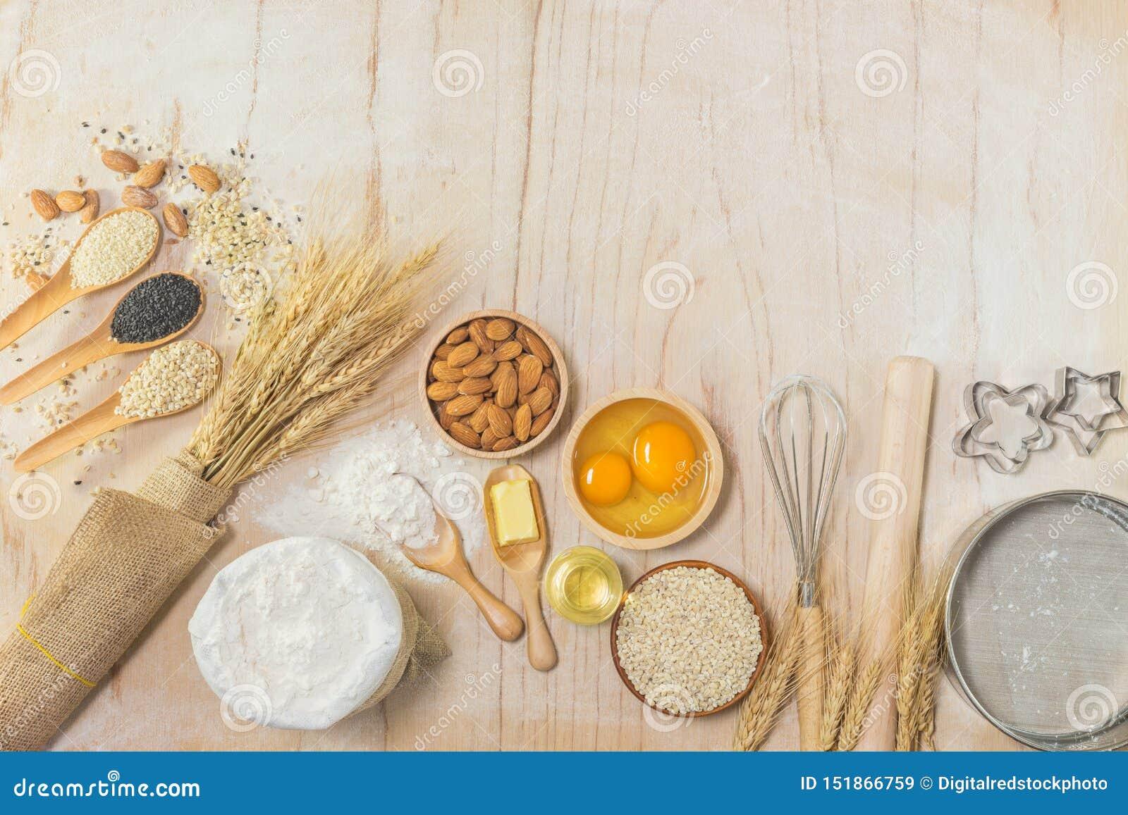 Accessoires de cuisine et ingrédients de cuisson