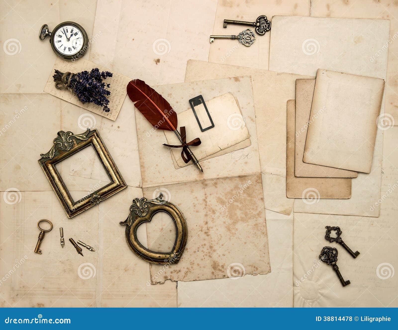 Accessoires de vintage vieilles lettres cadres de photo - Accessoire retro ...