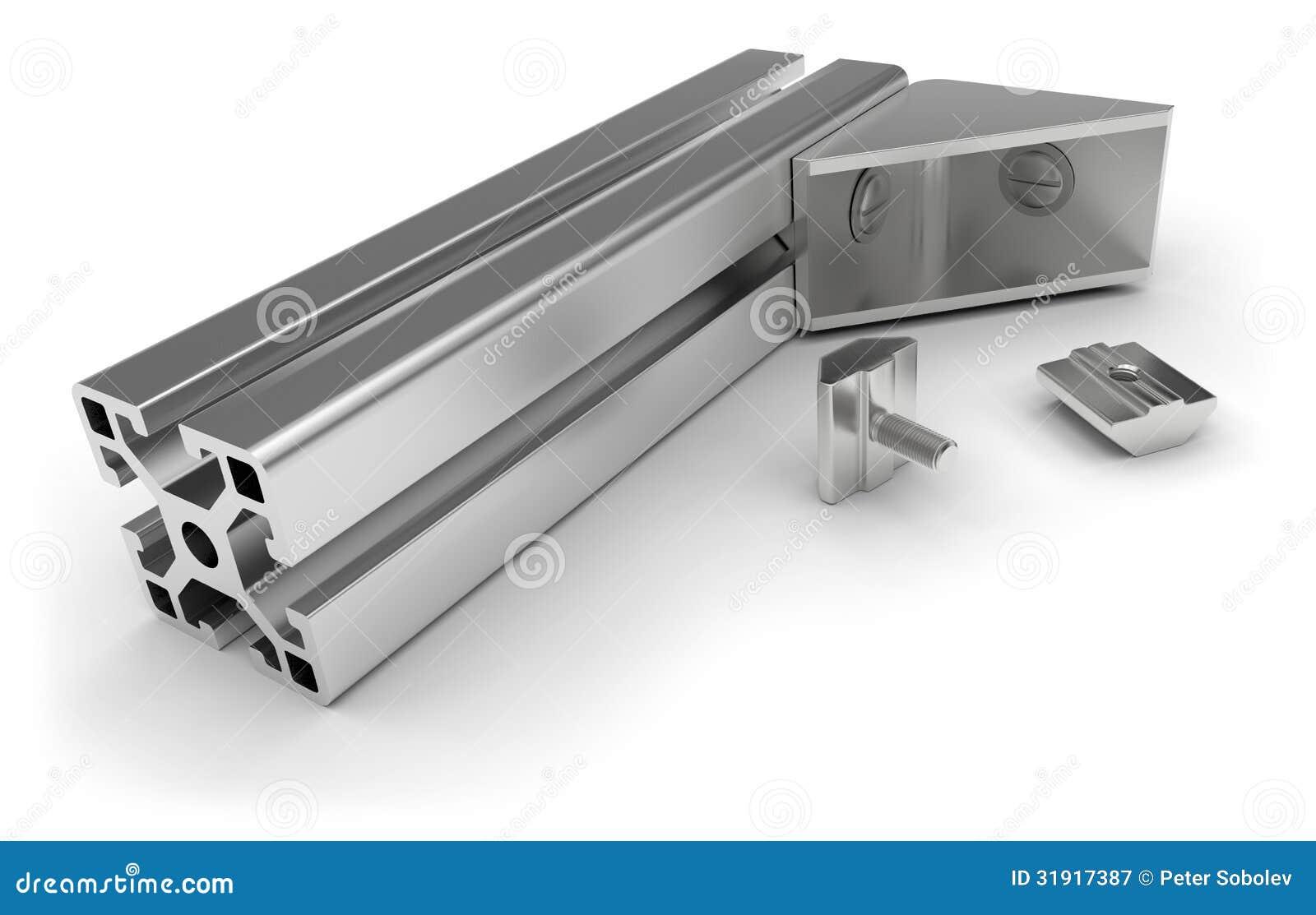 accessoires en aluminium de profil photographie stock libre de droits image 31917387. Black Bedroom Furniture Sets. Home Design Ideas
