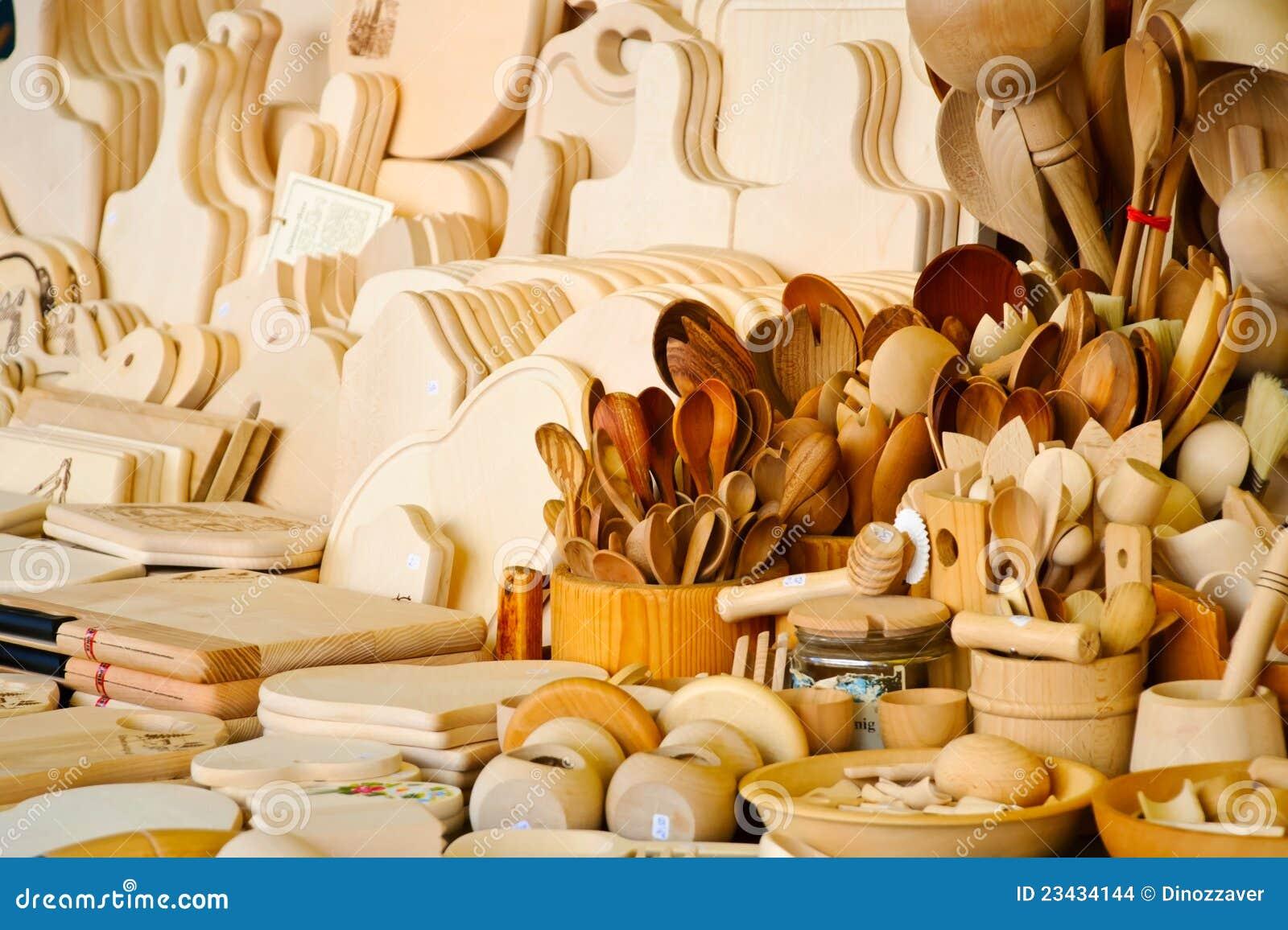 Accessoires En Bois De Cuisine Images stock  Image 23434144