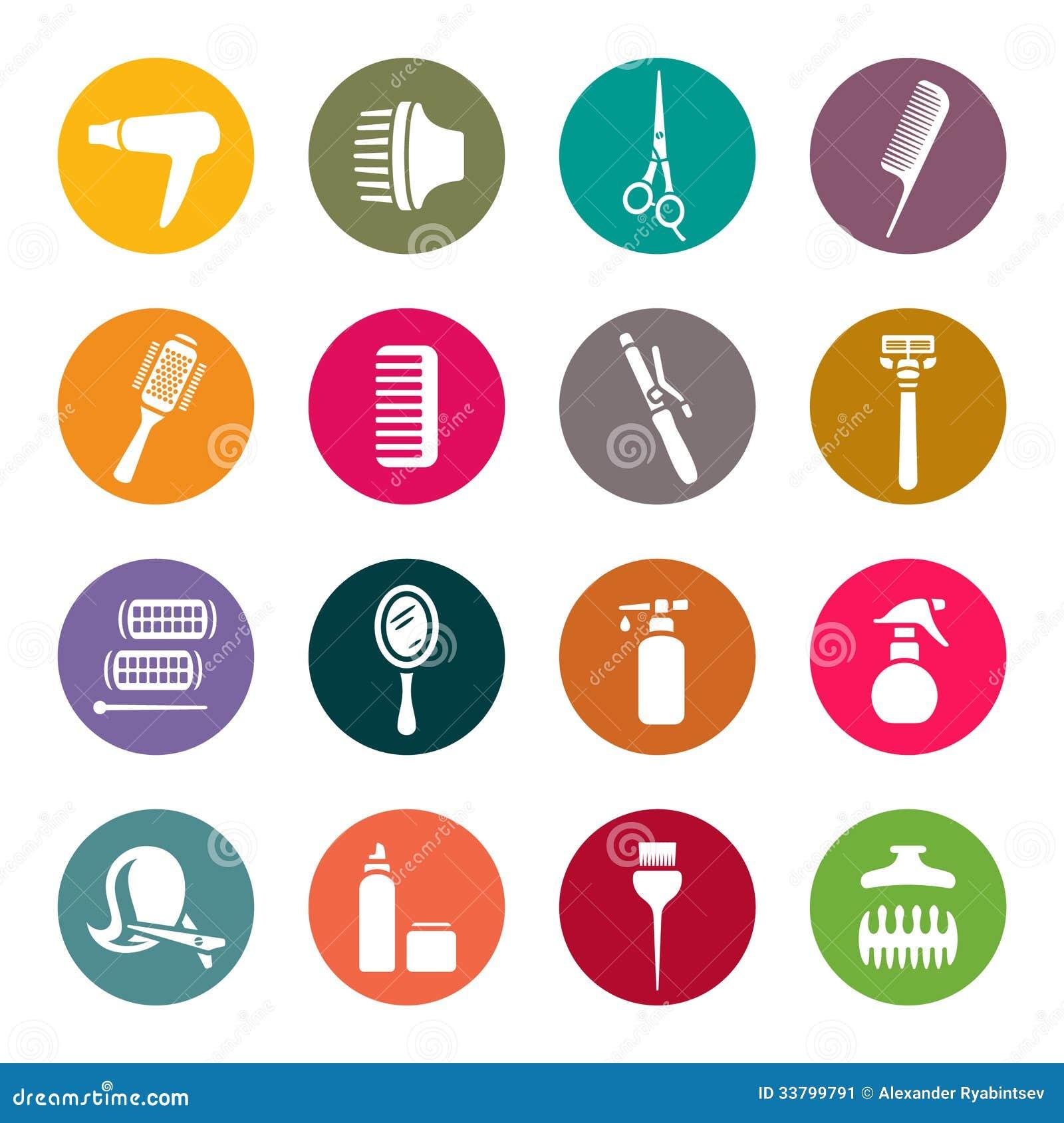 Accessoires pour des ic nes de salon de coiffure image for Accessoire pour salon de coiffure