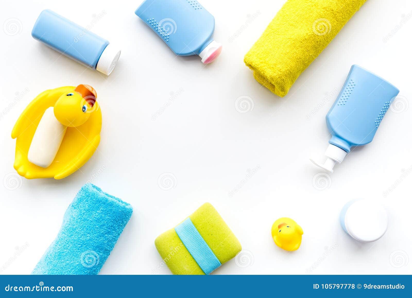Accessori Bagno Per Bambini.Accessori Del Bagno Per I Bambini Anatra Di Gomma Gialla Sapone