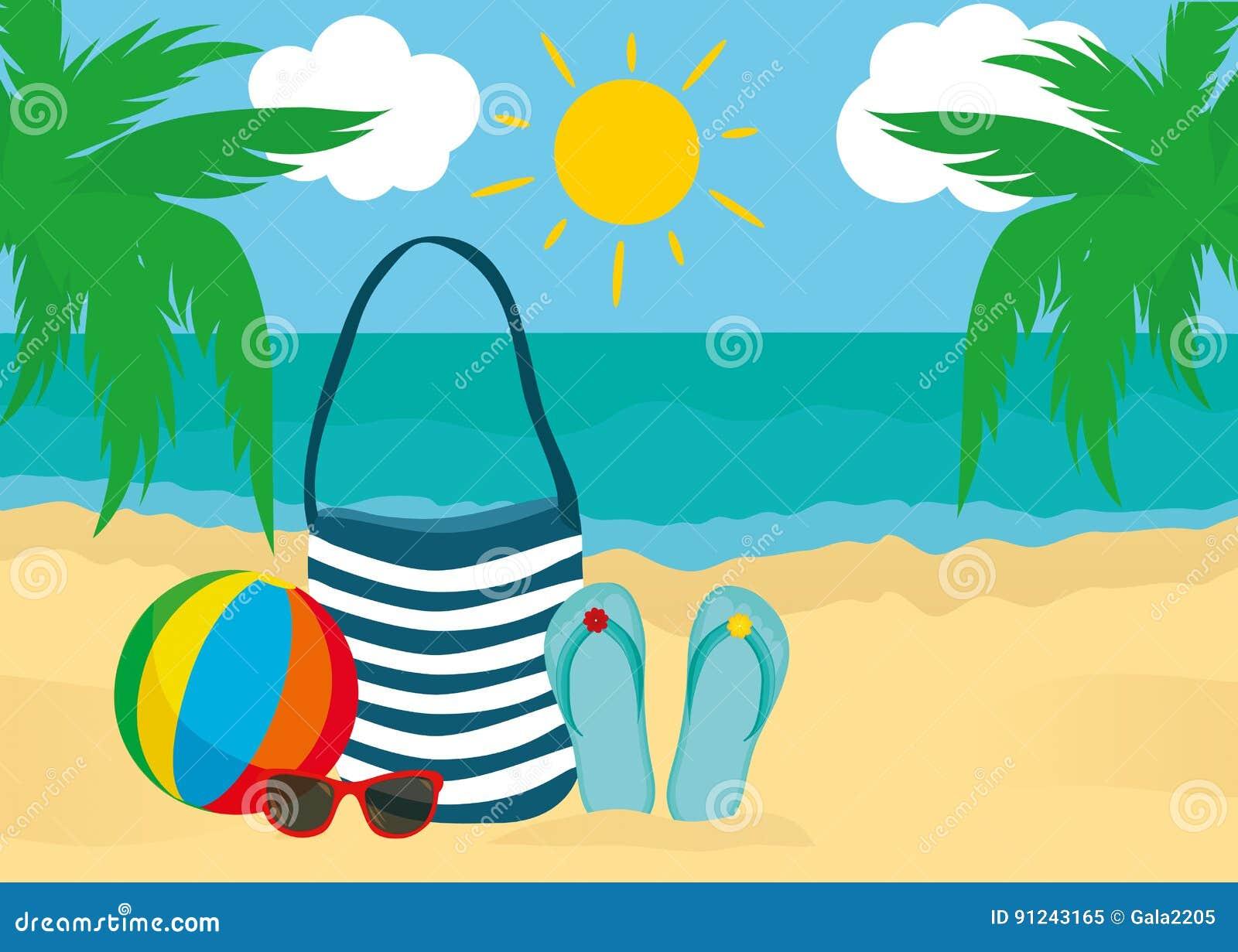 Accessori Di Estate Per La Spiaggia Borsa Occhiali Da Sole Flip