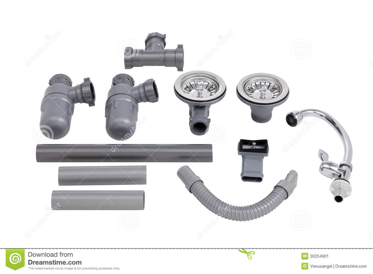 The Accessories Of Kitchen Sink Stock Image - Image: 30254901