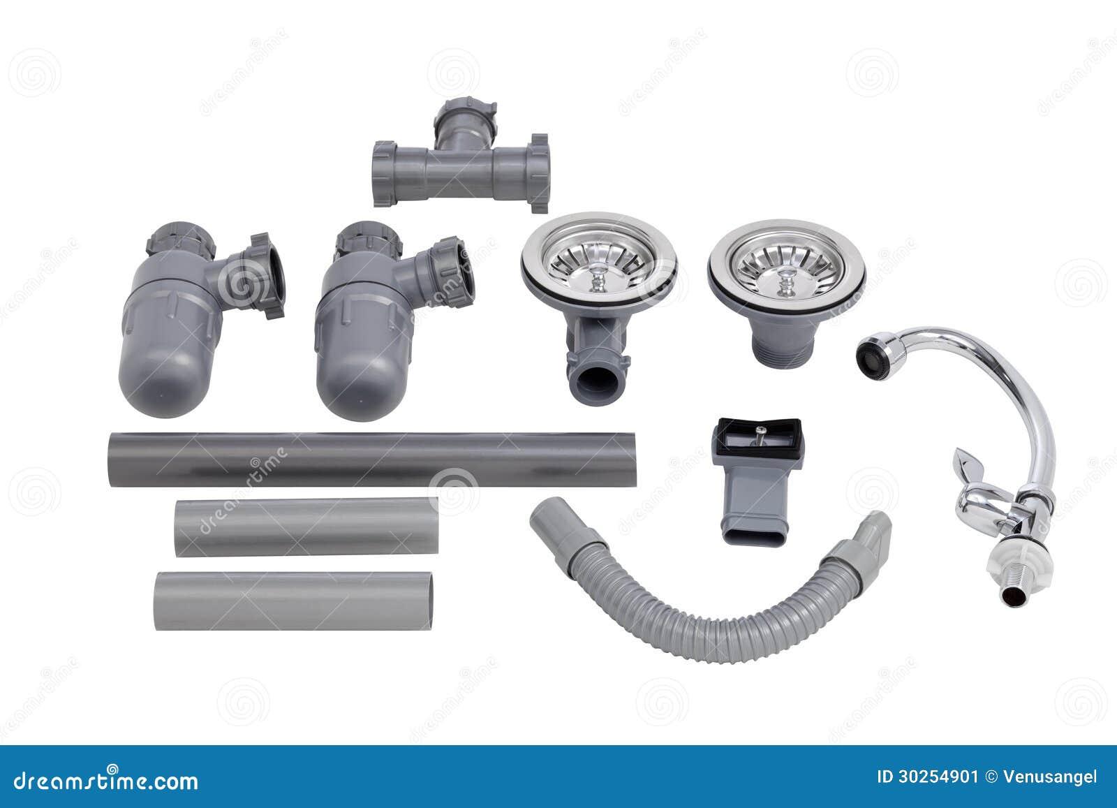 Kitchen Sink Accessories the accessories of kitchen sink stock image - image: 30254901