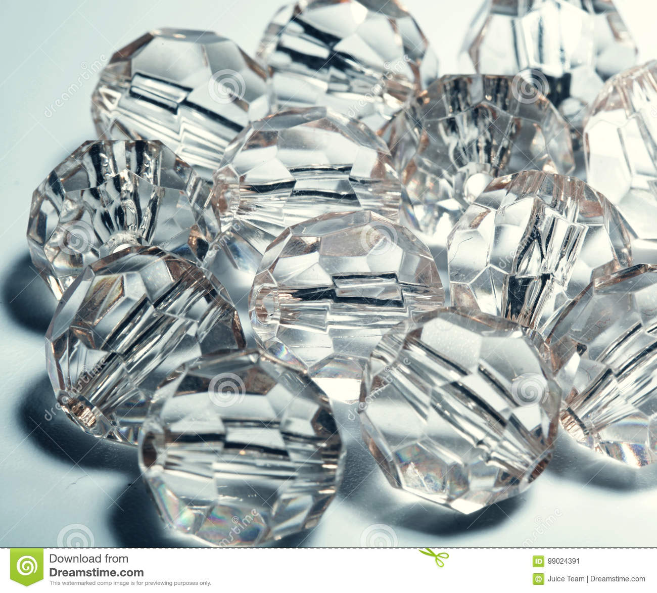 Accessories, small transparent crystals