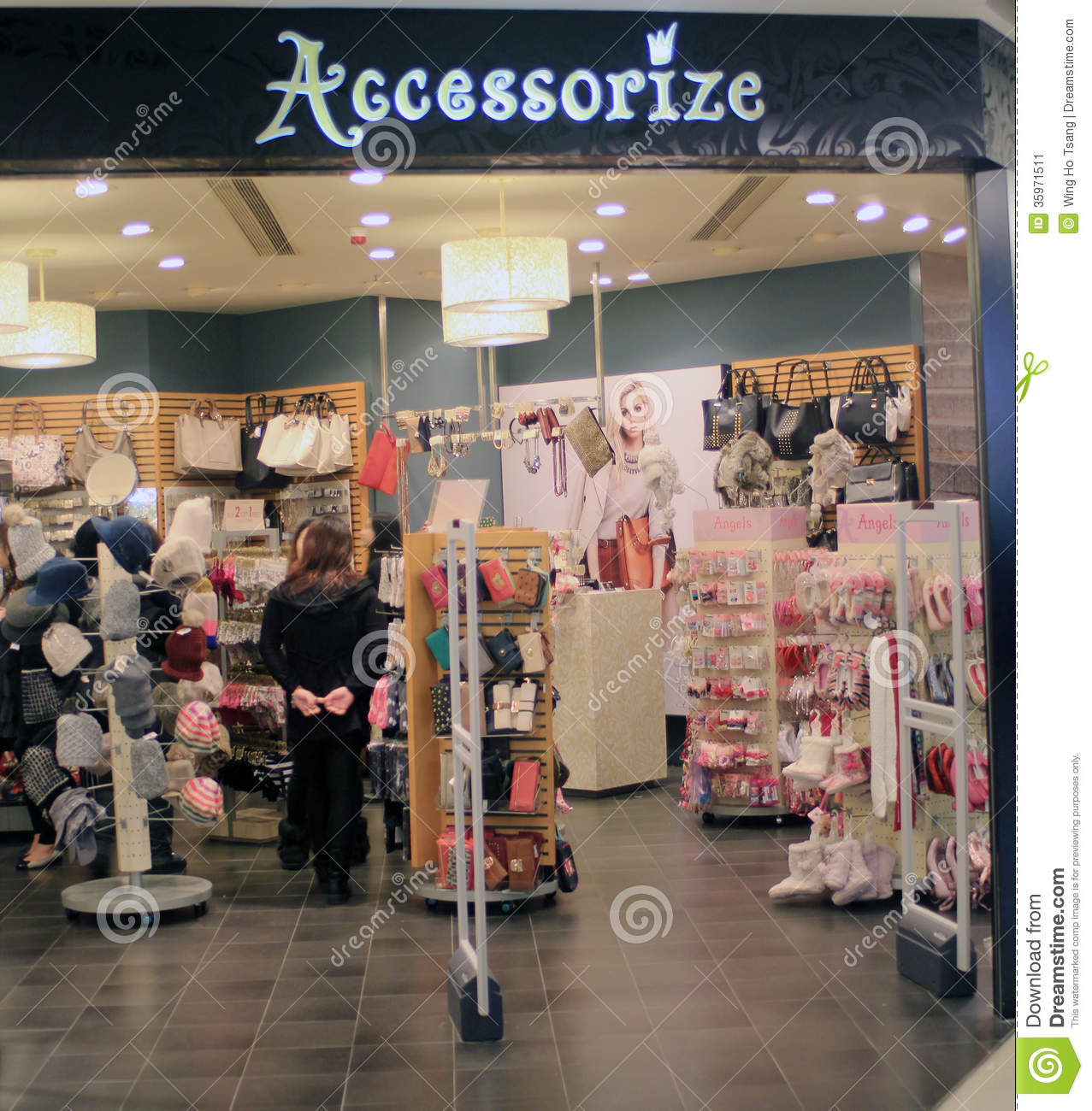Shop Accessories: Accessorize Shop In Hong Kong Editorial Photo