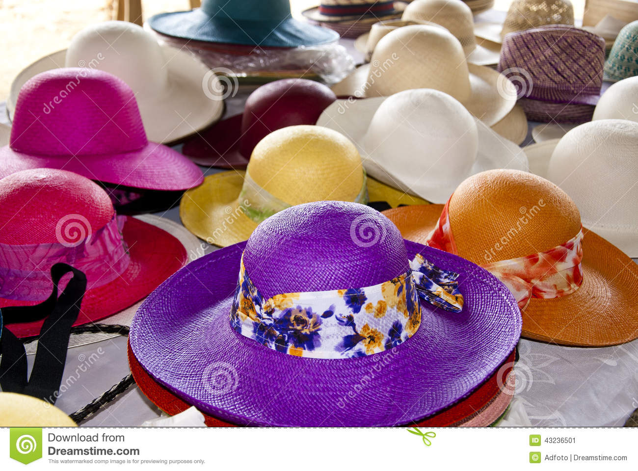 Accessory - Feminine Straw Hats Stock Image - Image of knitting ... b5ffc0a3c75
