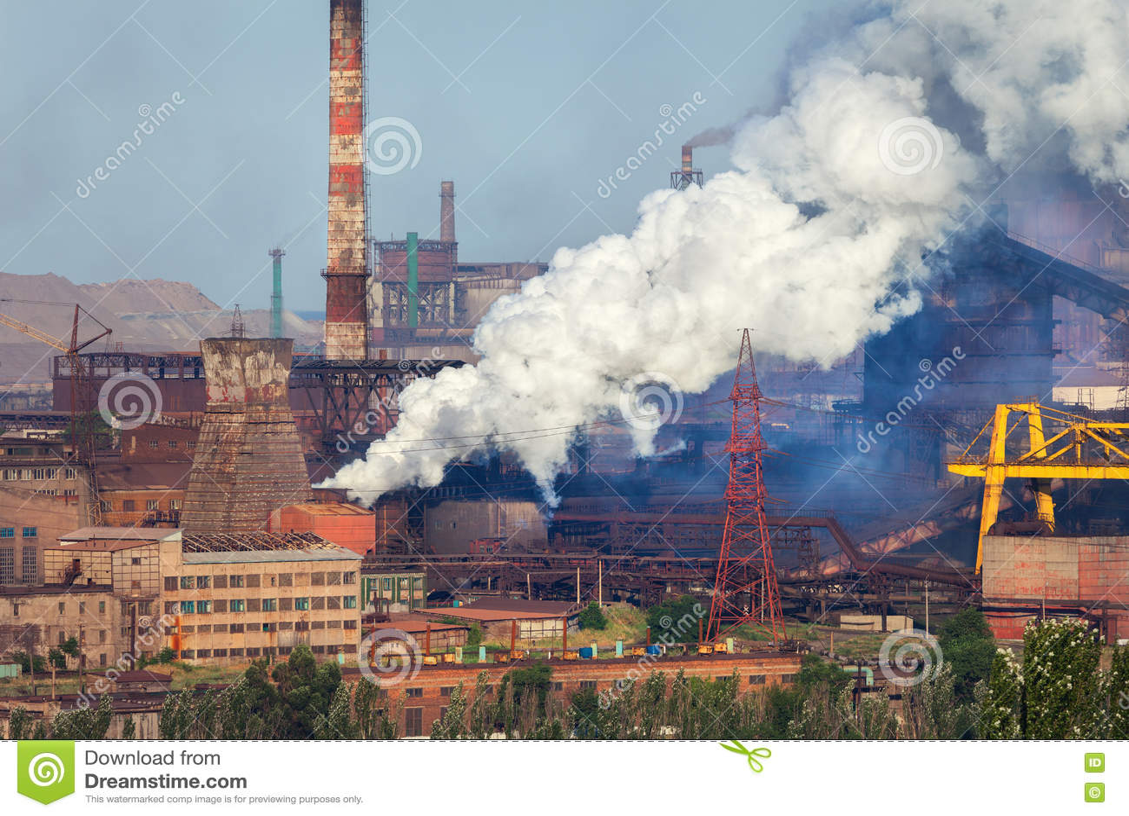 Acciaieria, pianta di metallurgia Fabbrica dell industria pesante