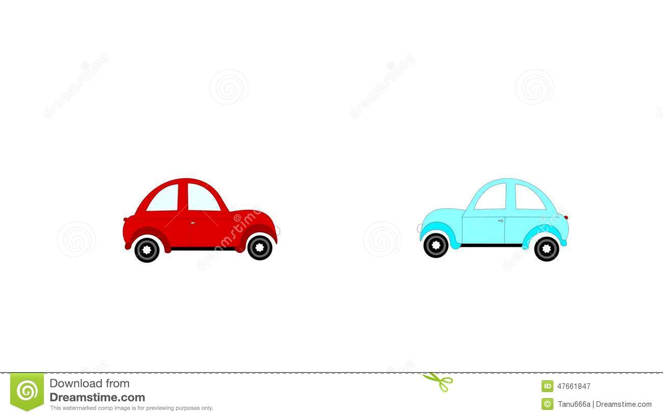 The Accident, Car Accident Two Cars On A White Background, Animation ...