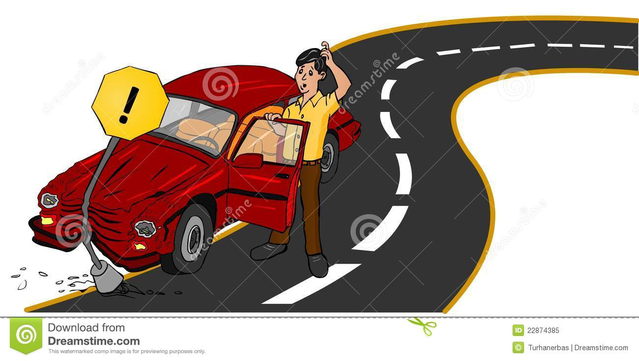 Wrecked Car Clipart Accident On Road Royalty Free Stock Photo Image 22874385