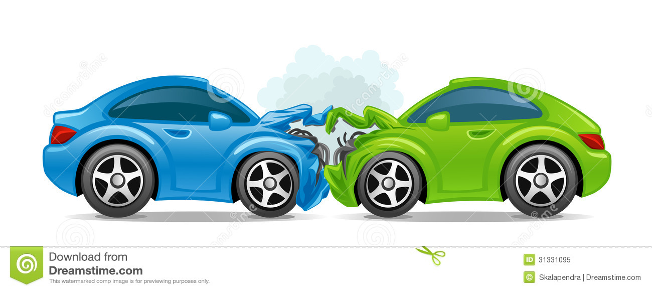 Fiery Car Crash Clip Art