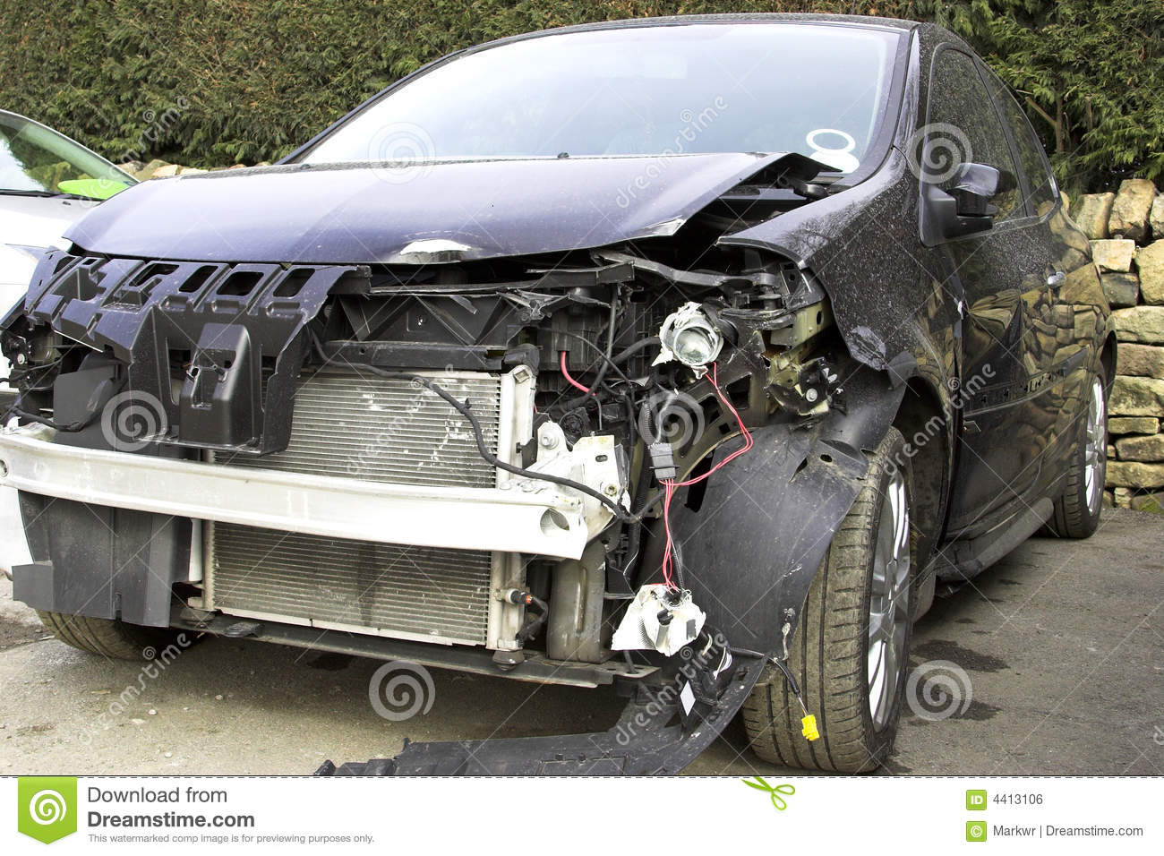 Accident Damaged Vehicle stock photo. Image of fast, bumper - 4413106