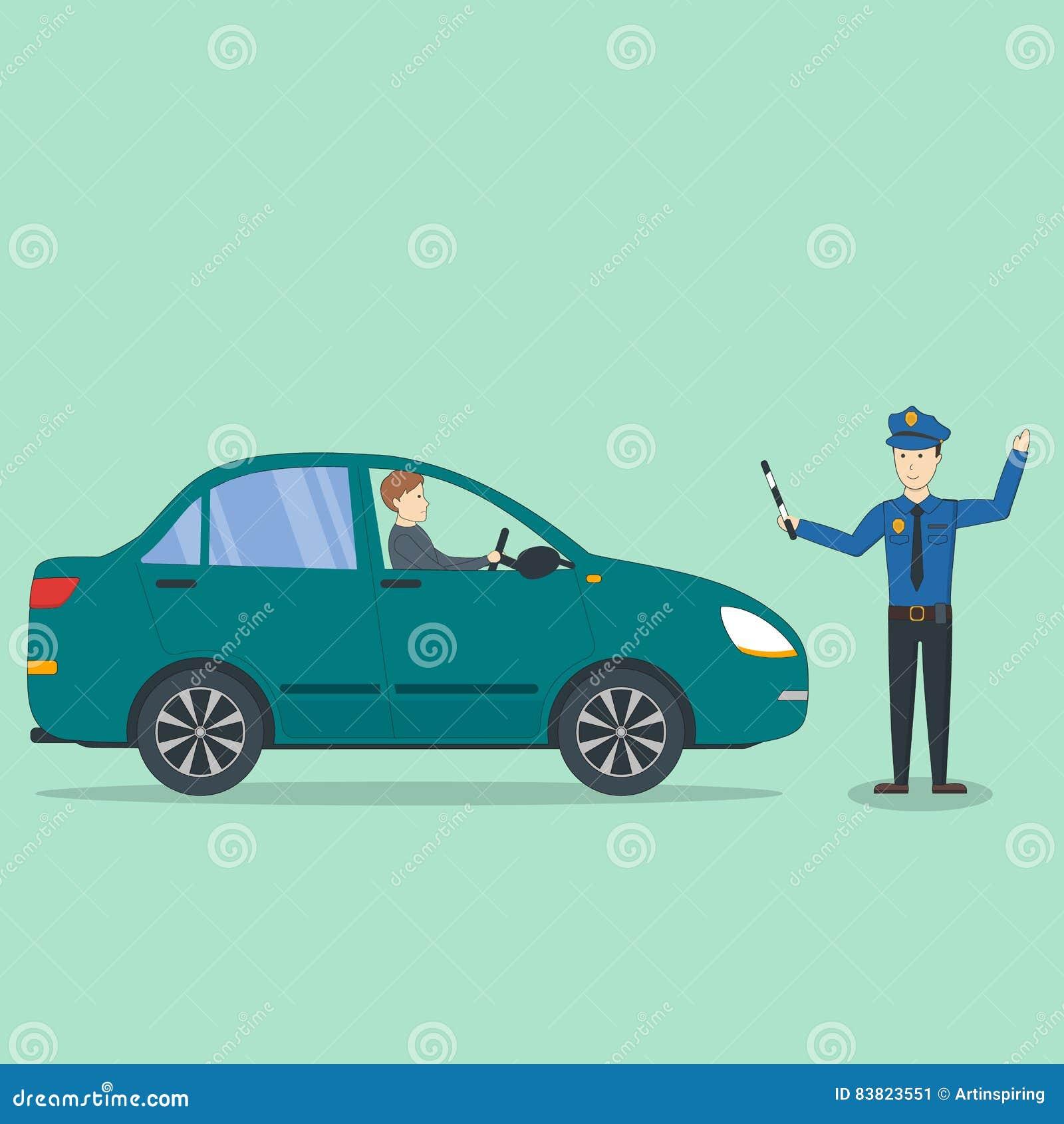 Accident de voiture avec le policier