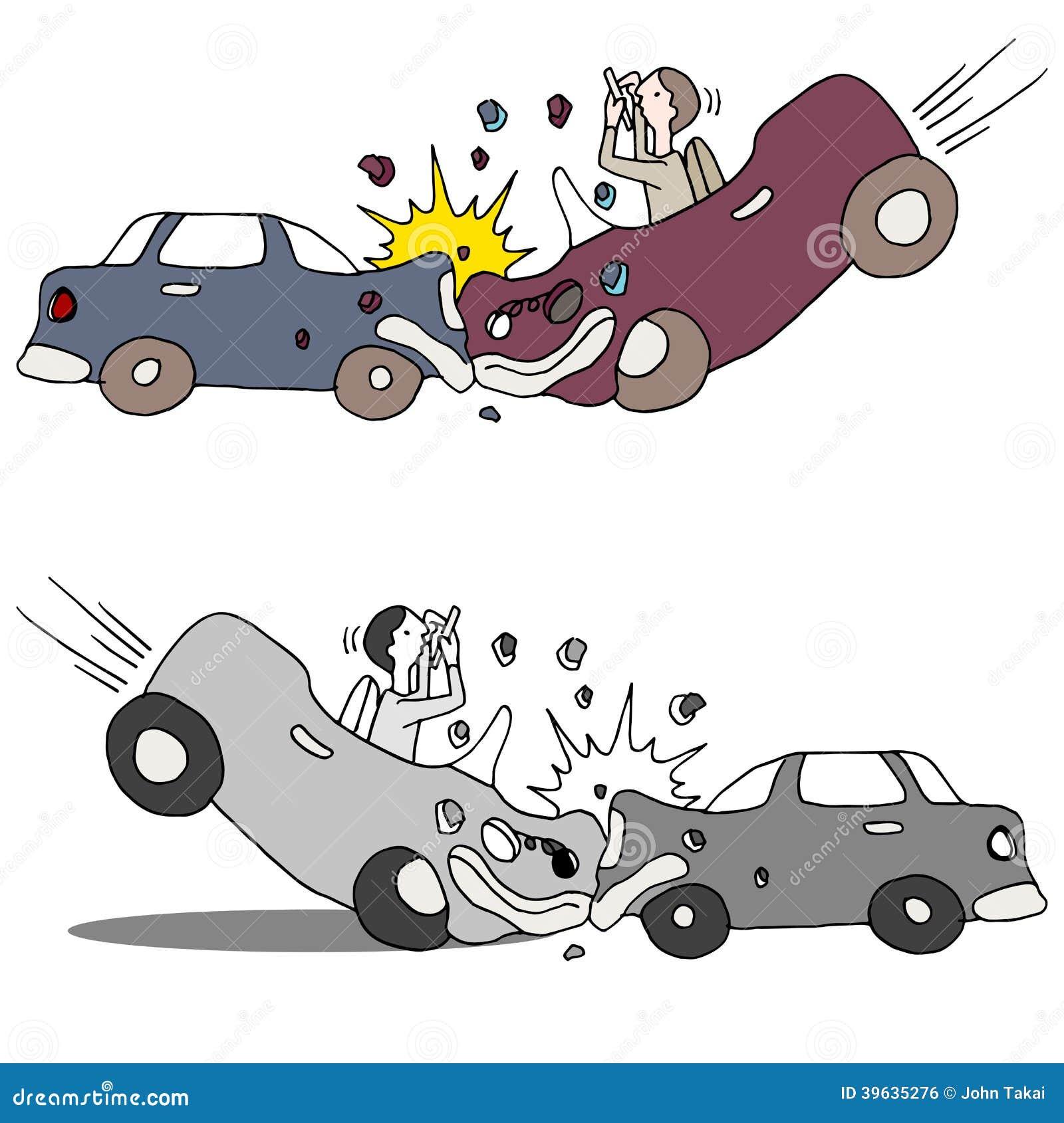 Accident de voiture des textes illustration de vecteur illustration du dommages crashing - Accident de voiture dessin ...